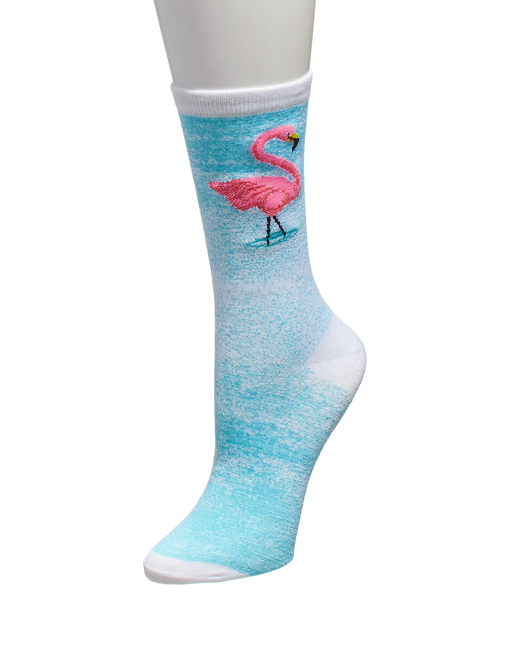 Keep Your Socks On Turquoise Socks