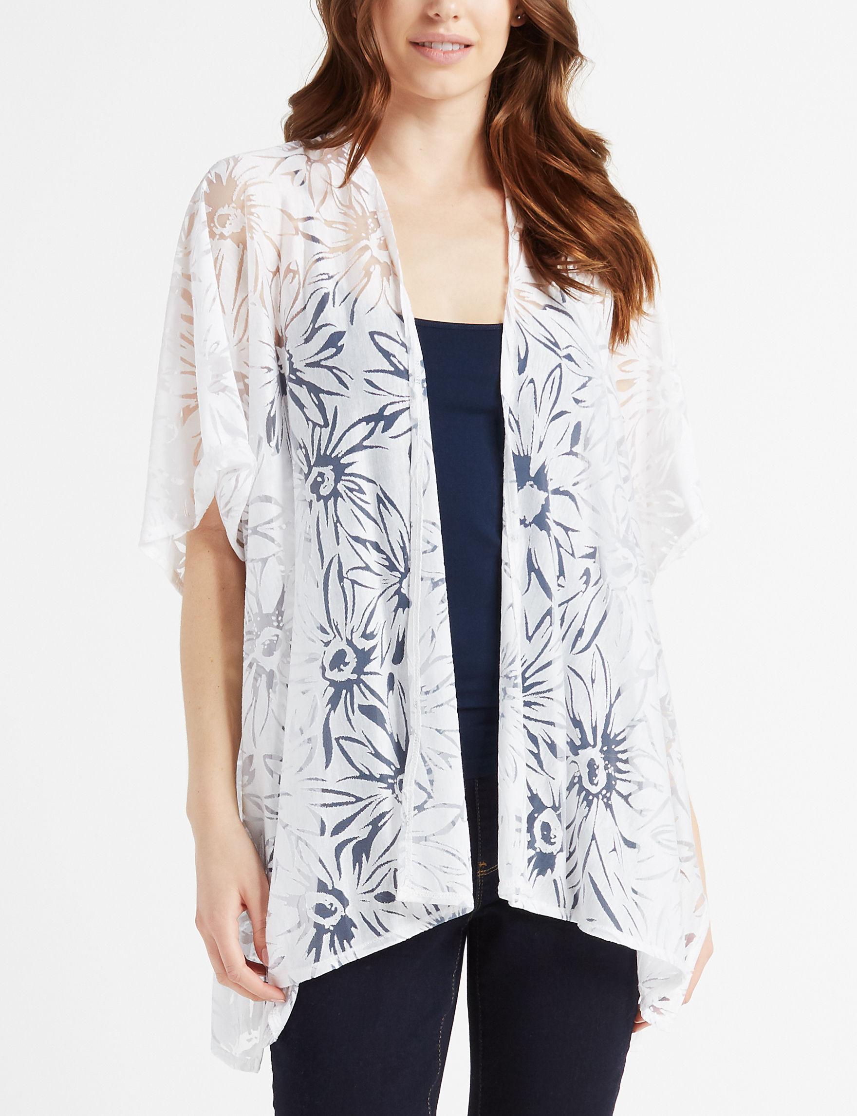 Basha White Kimonos & Toppers