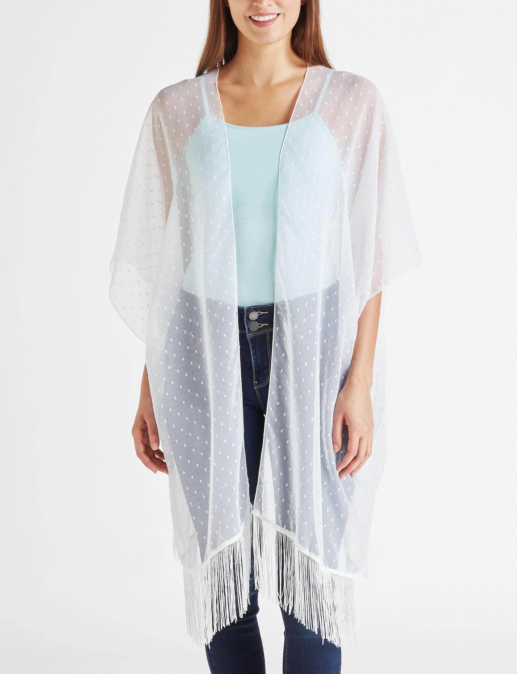 Lake Shore Drive White Kimonos & Toppers
