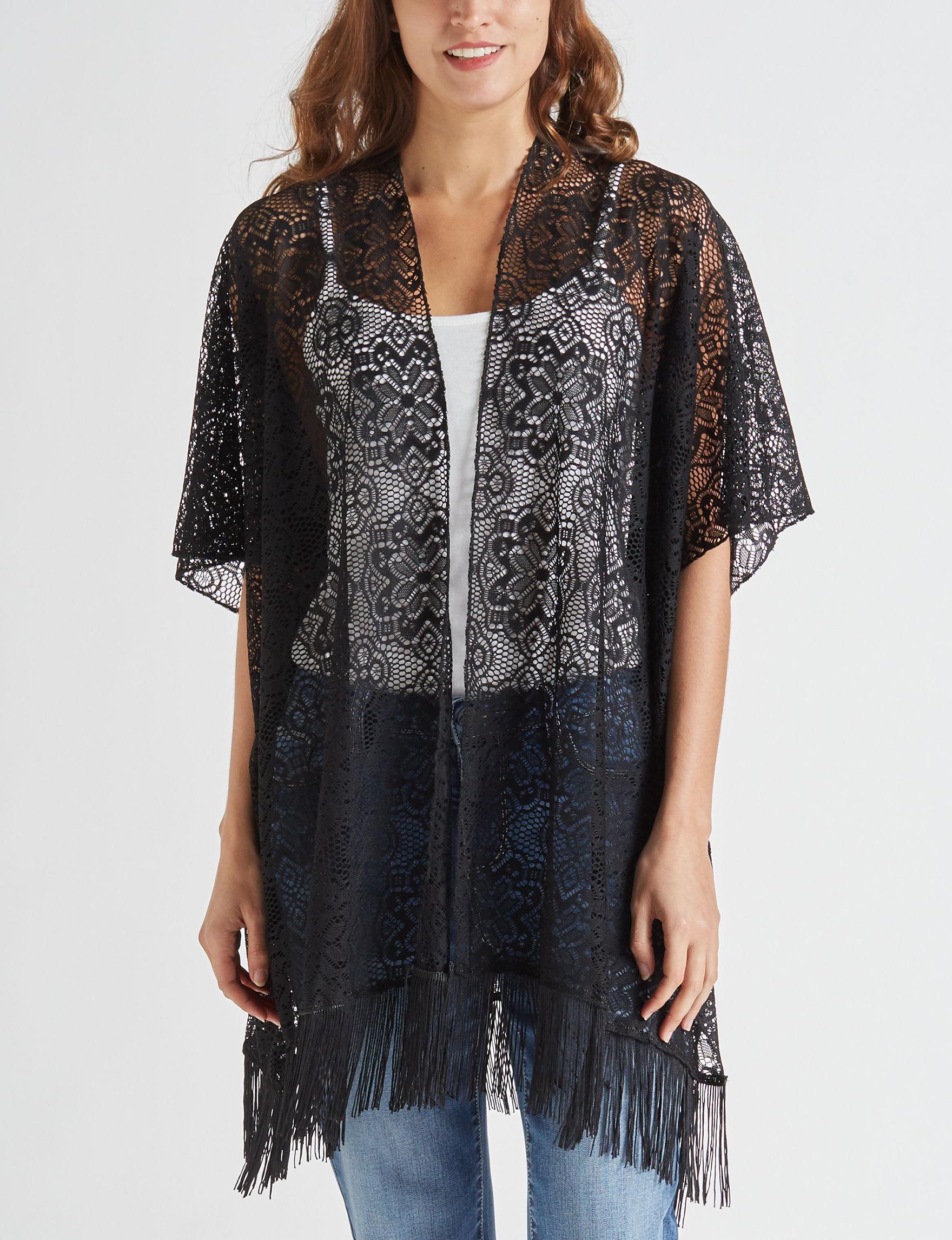 Basha Black Kimonos & Toppers
