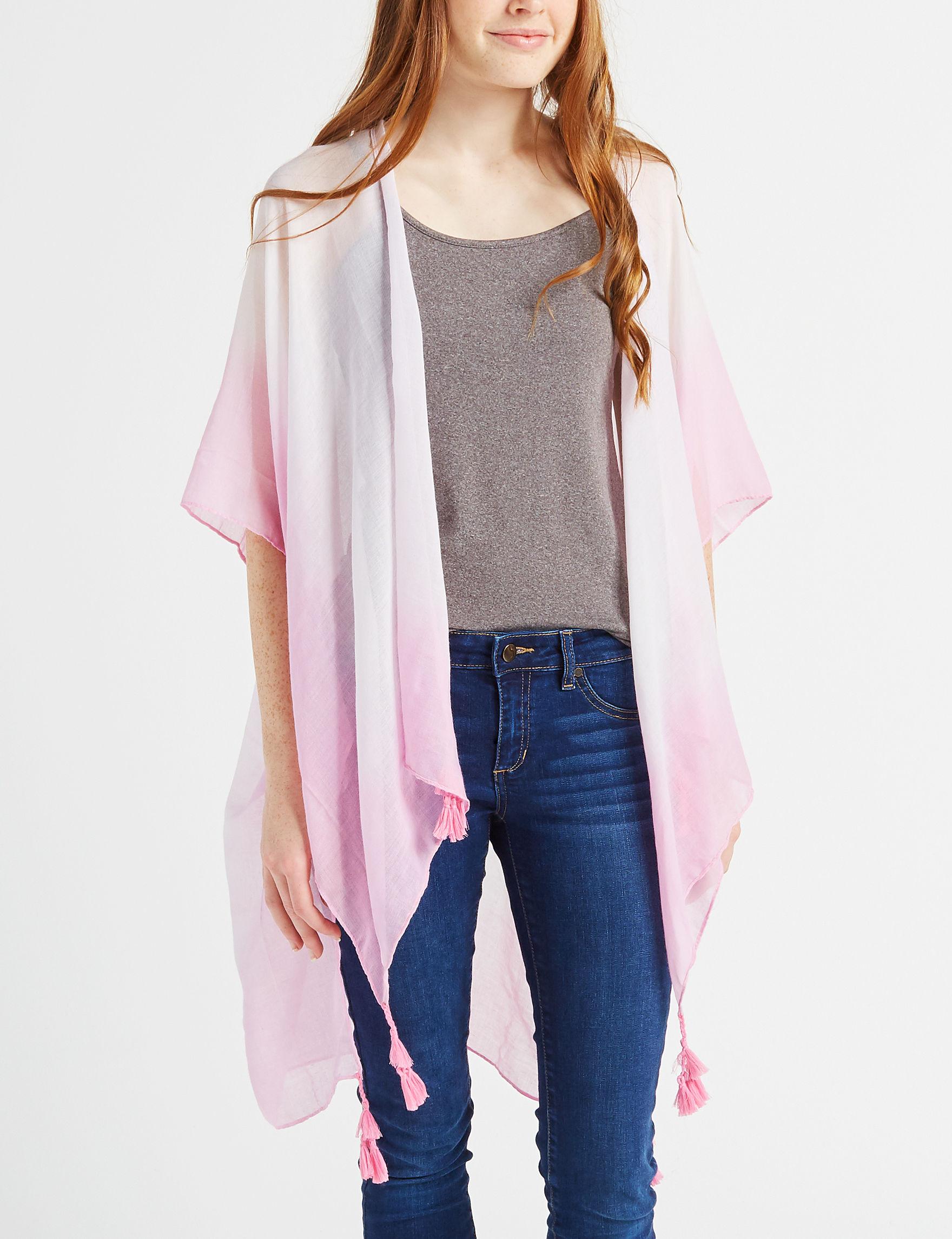 Basha White / Pink Kimonos & Toppers