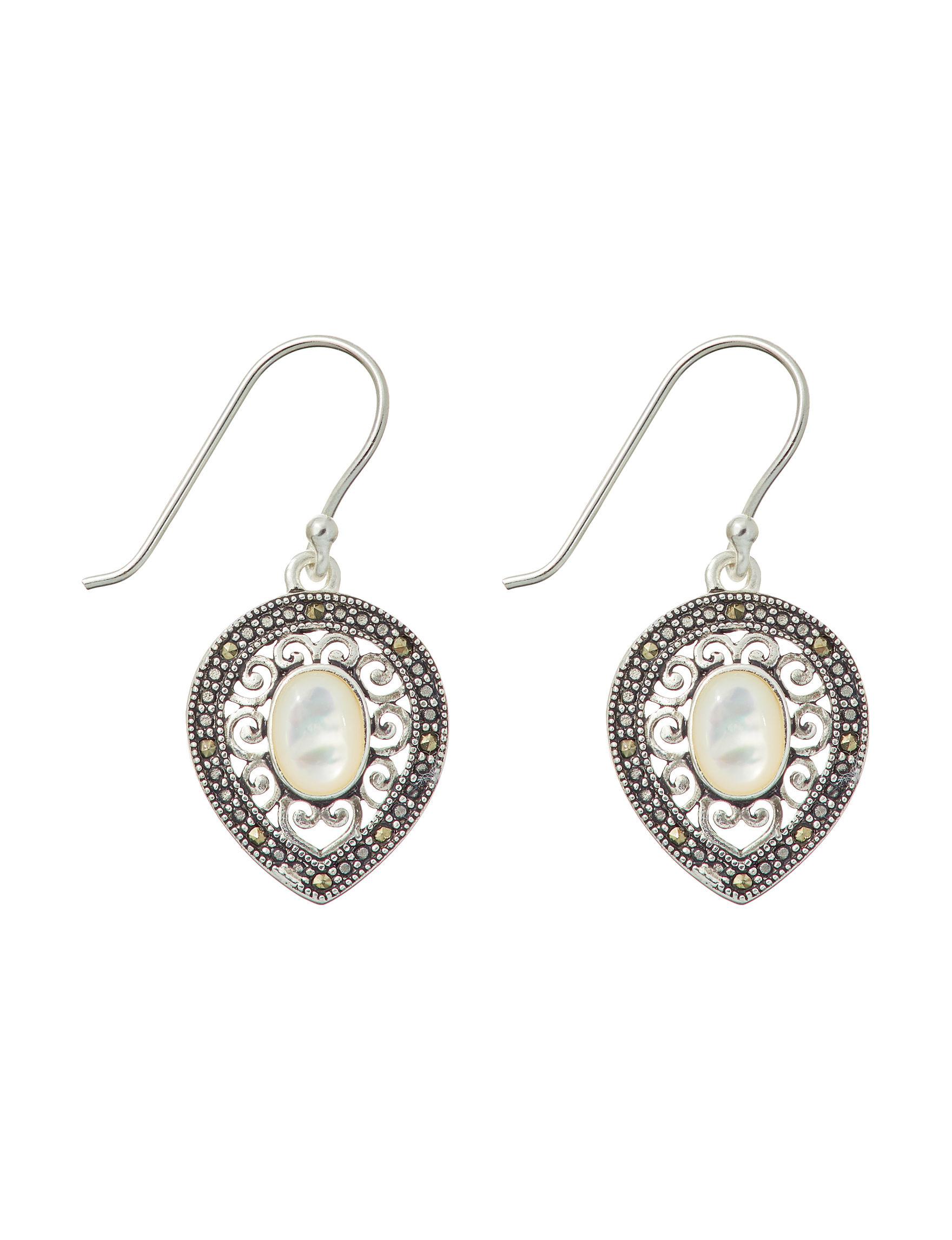 Marsala Silver / Multi Drops Earrings Fine Jewelry
