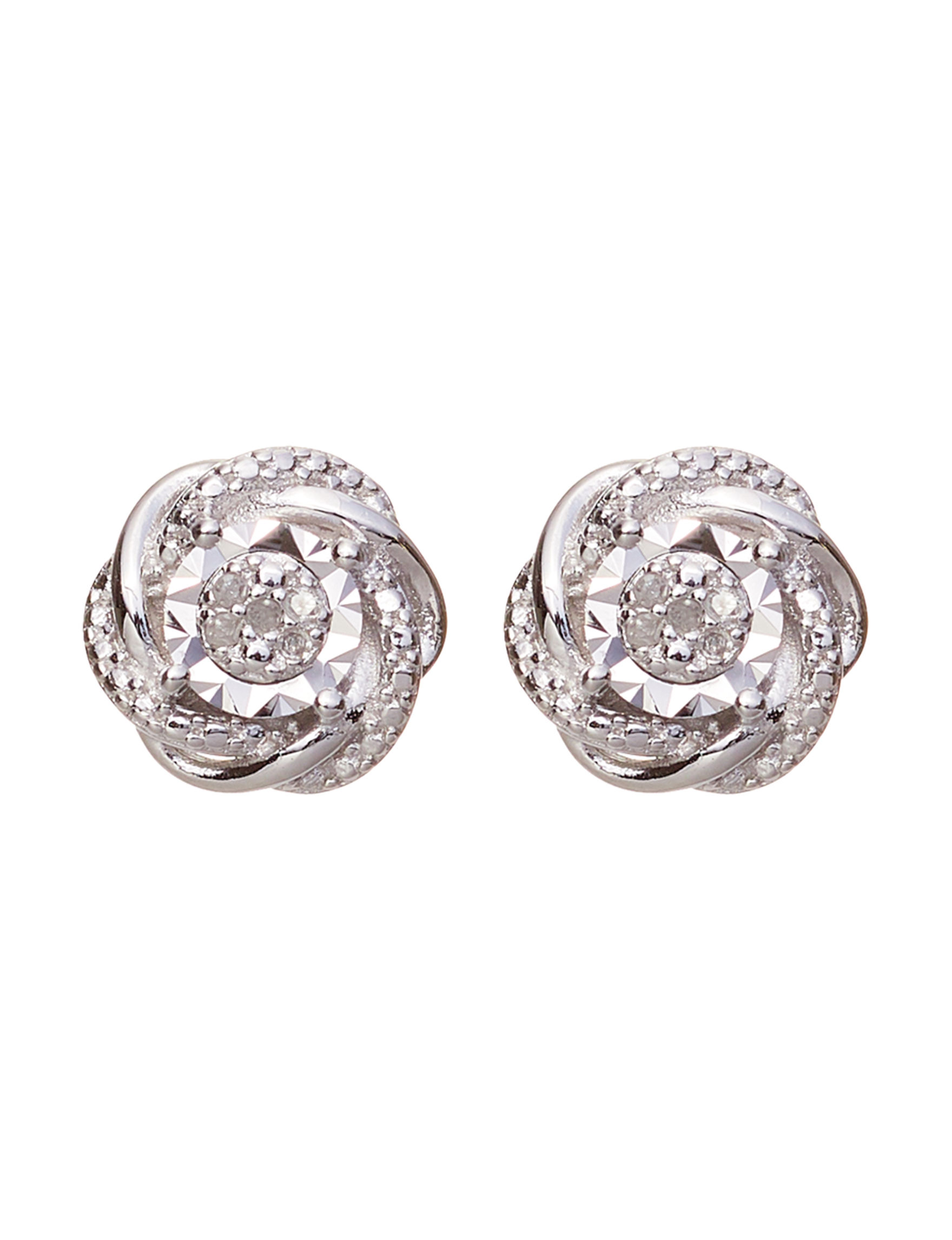 Marsala Silver Studs Earrings Fine Jewelry
