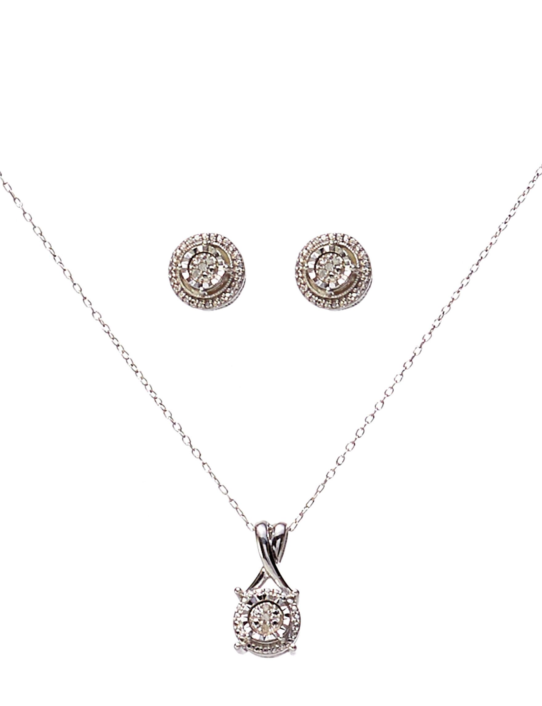 Marsala Silver Earrings Necklaces & Pendants Fine Jewelry