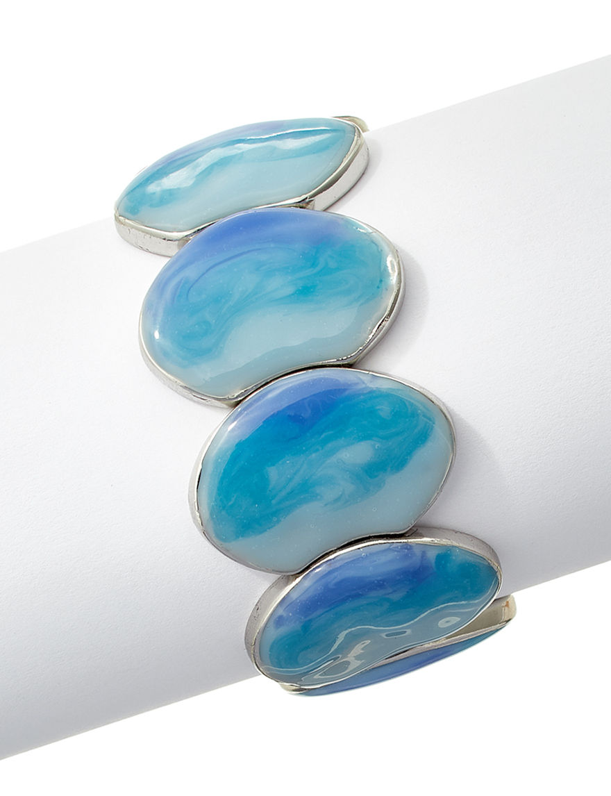 Hannah Silver / Blue Bracelets Fashion Jewelry