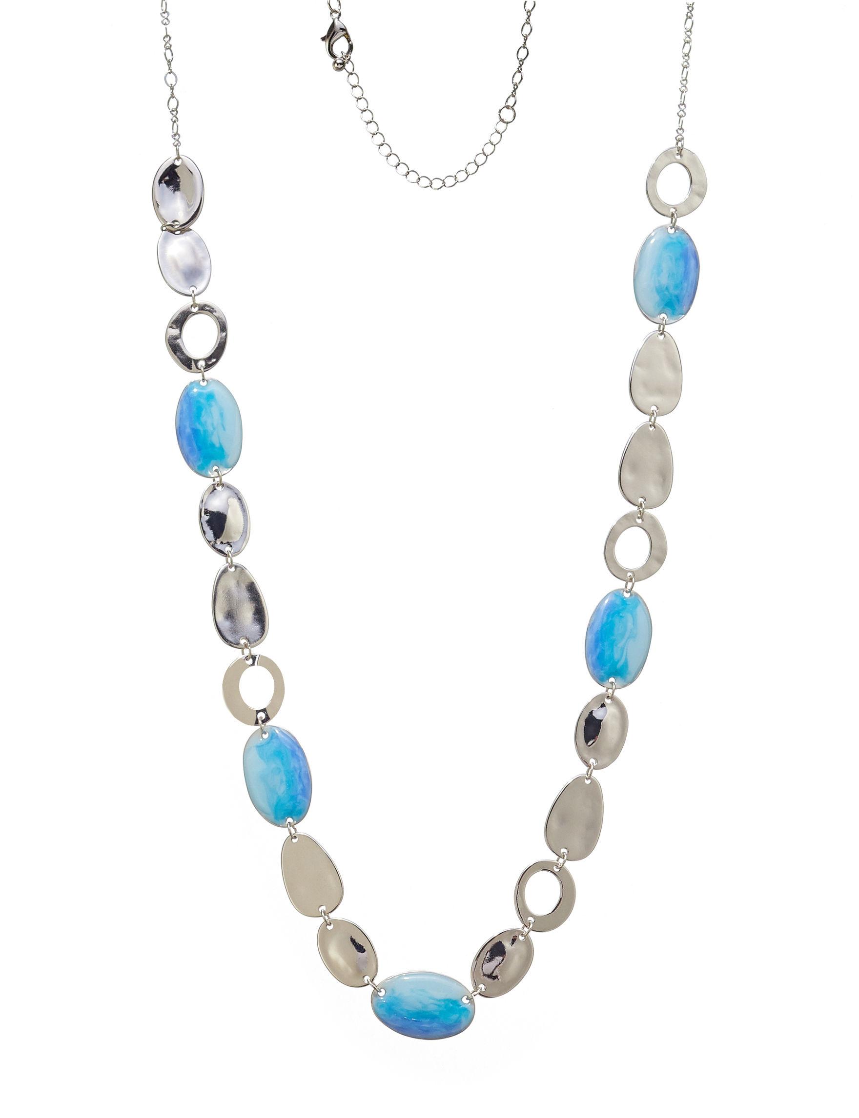Hannah Blue / Silver Necklaces & Pendants Fashion Jewelry