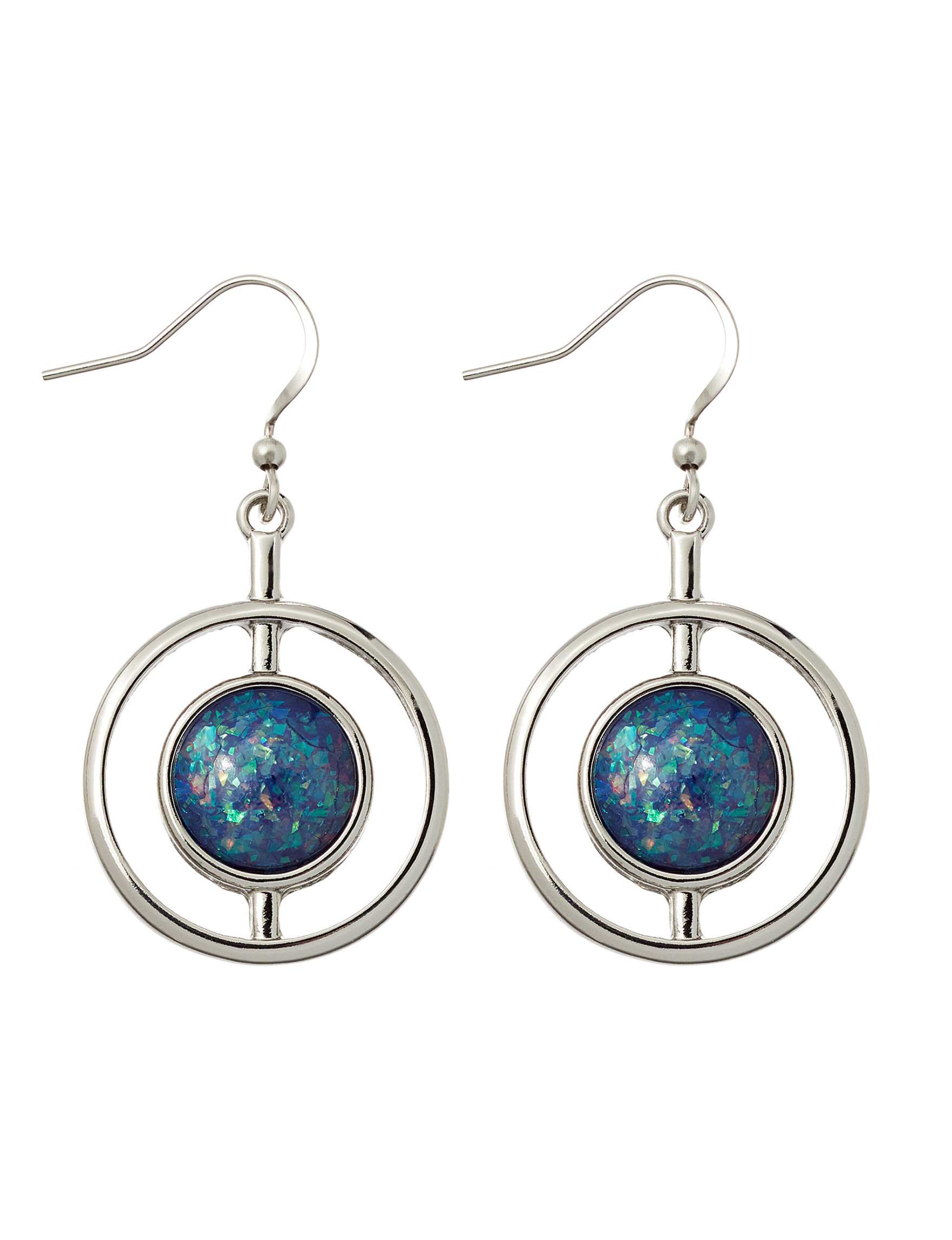 Hannah Silver / Blue Drops Earrings Fashion Jewelry