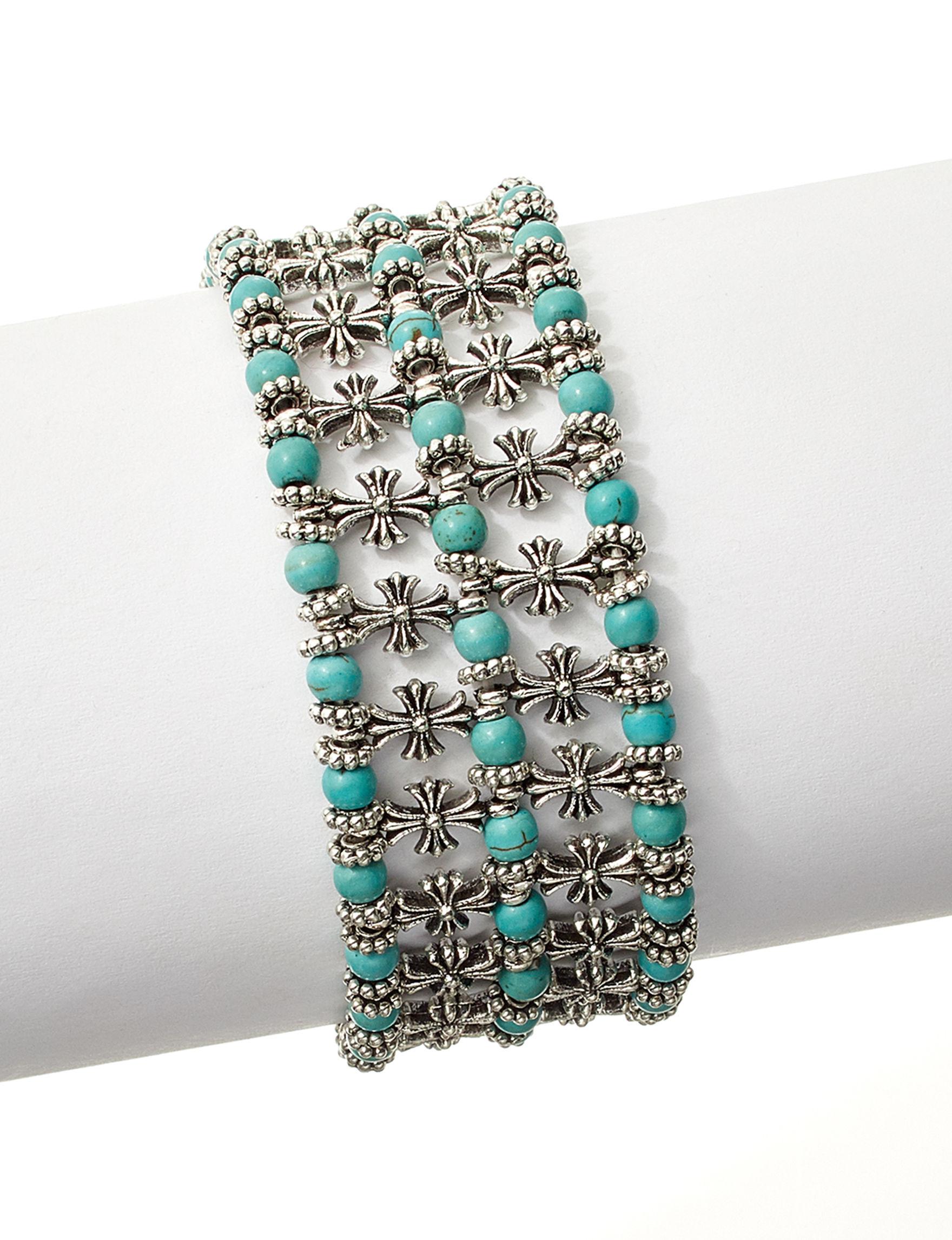 Hannah Silver / Turquoise Bracelets Fashion Jewelry