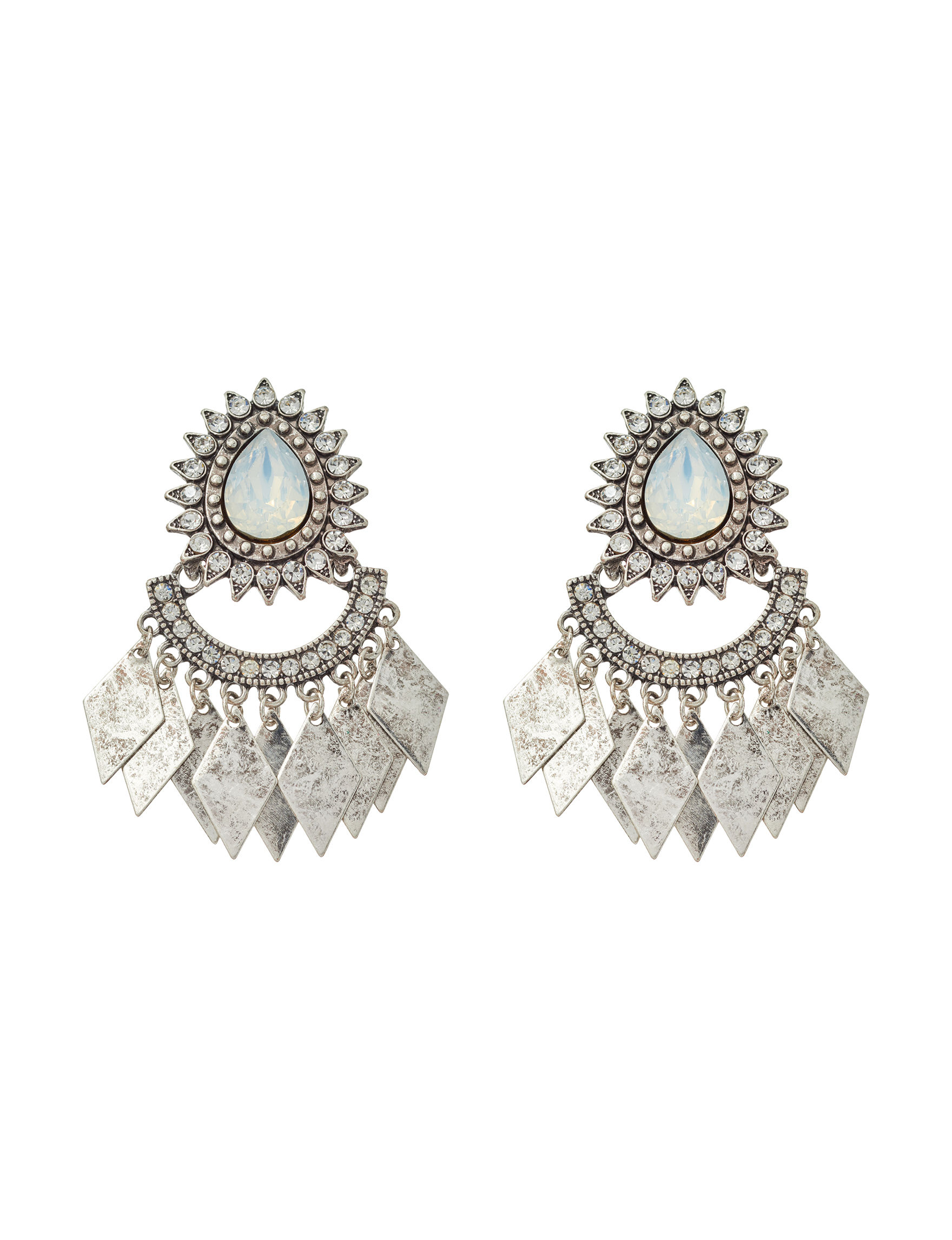 Hannah Silver / Multi Drops Fashion Jewelry