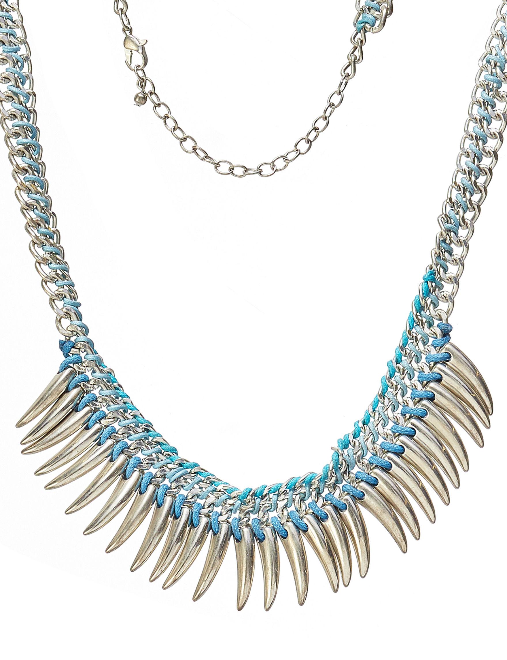 Hannah Silver / Blue Necklaces & Pendants Fashion Jewelry