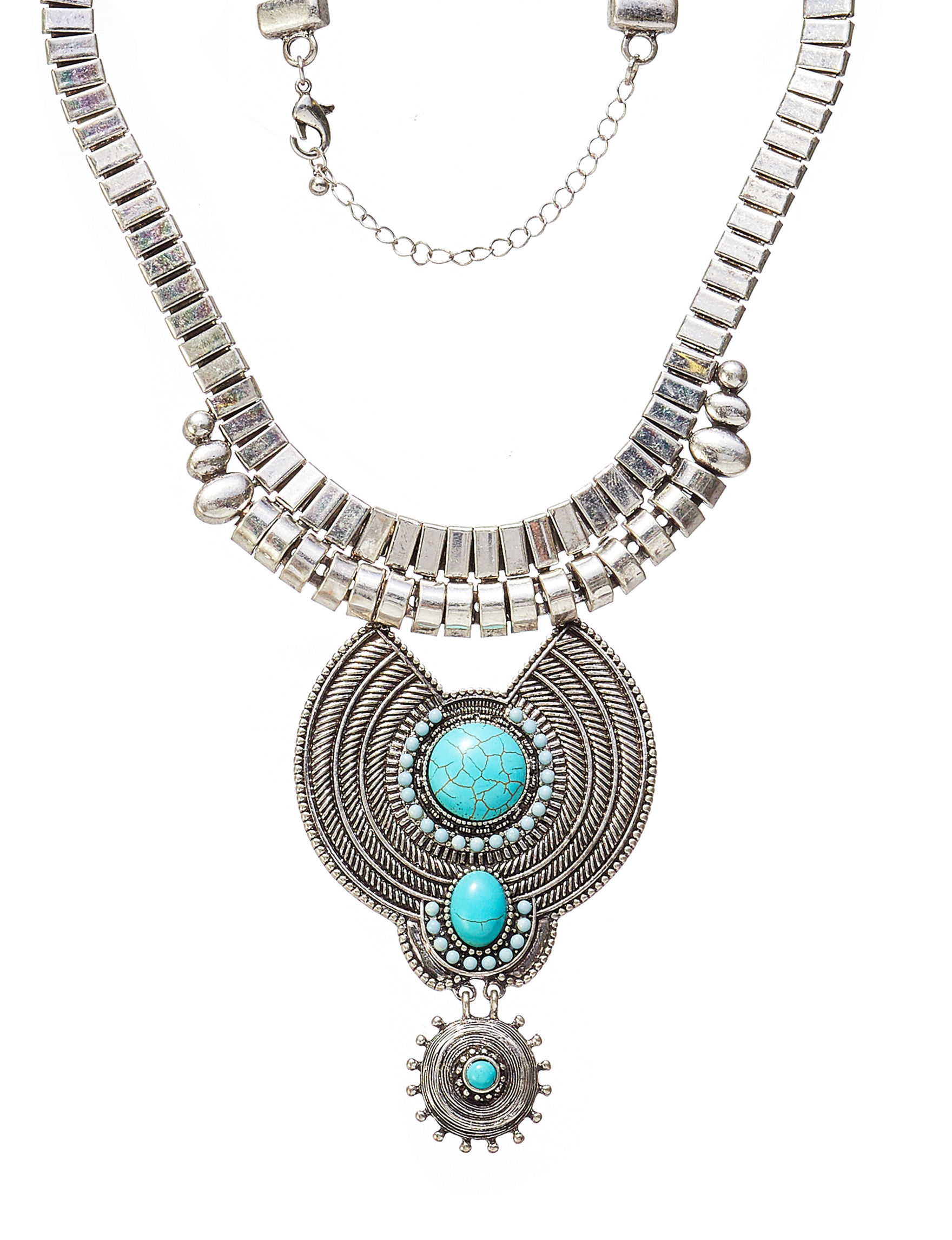 Hannah Silver / Turquoise Necklaces & Pendants Fashion Jewelry