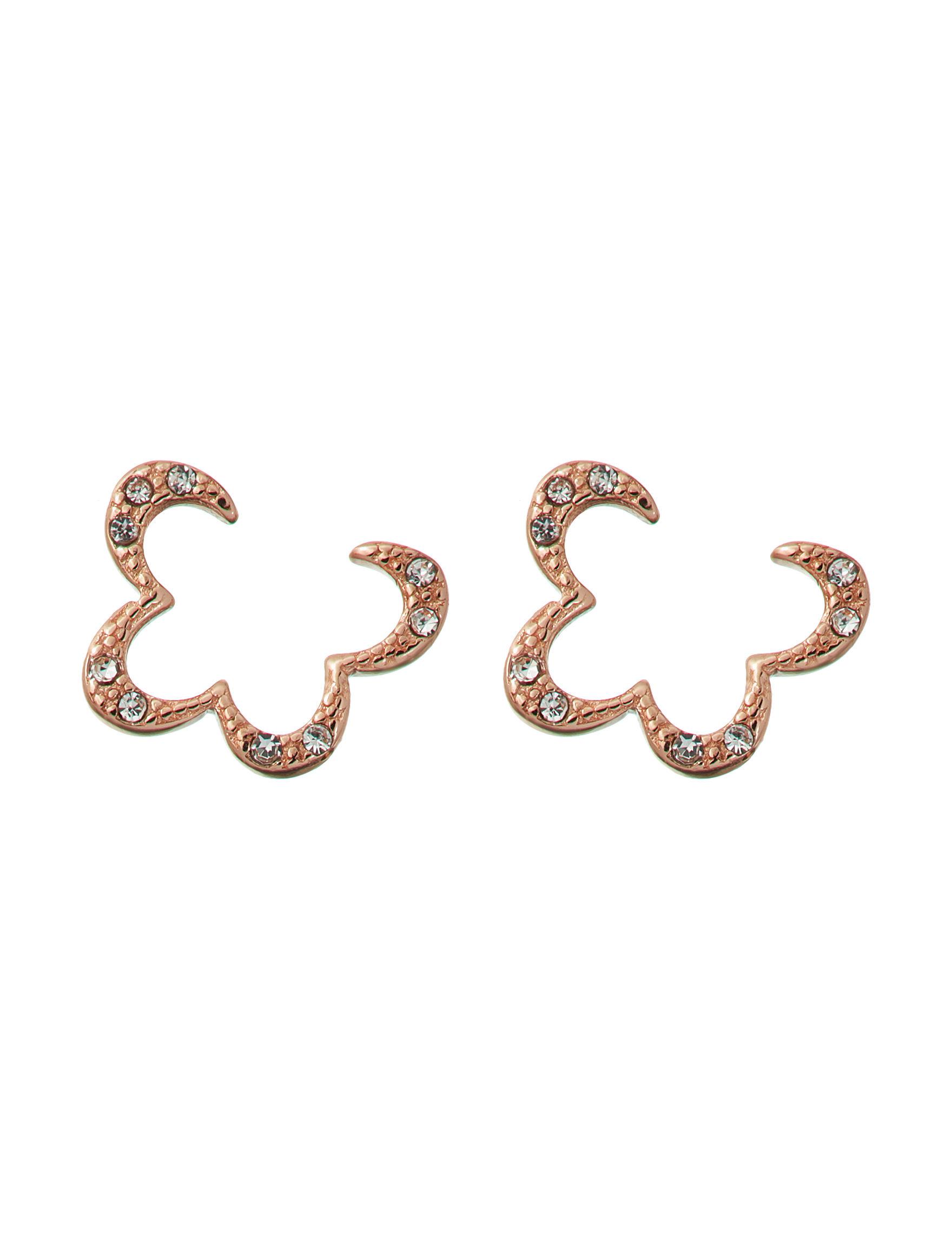 Marsala Rose Gold Studs Earrings Fine Jewelry