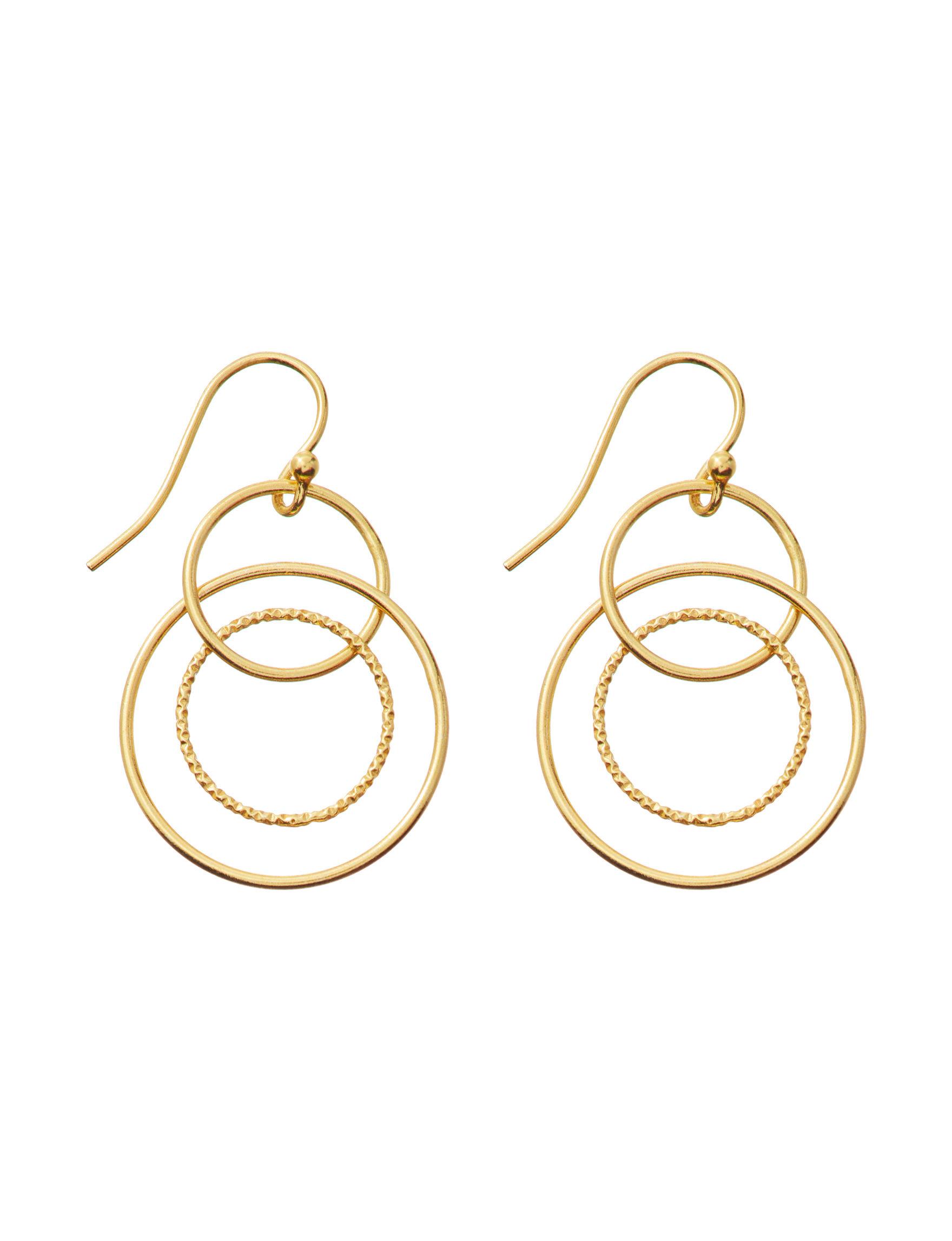 Marsala Gold Drops Earrings Fine Jewelry
