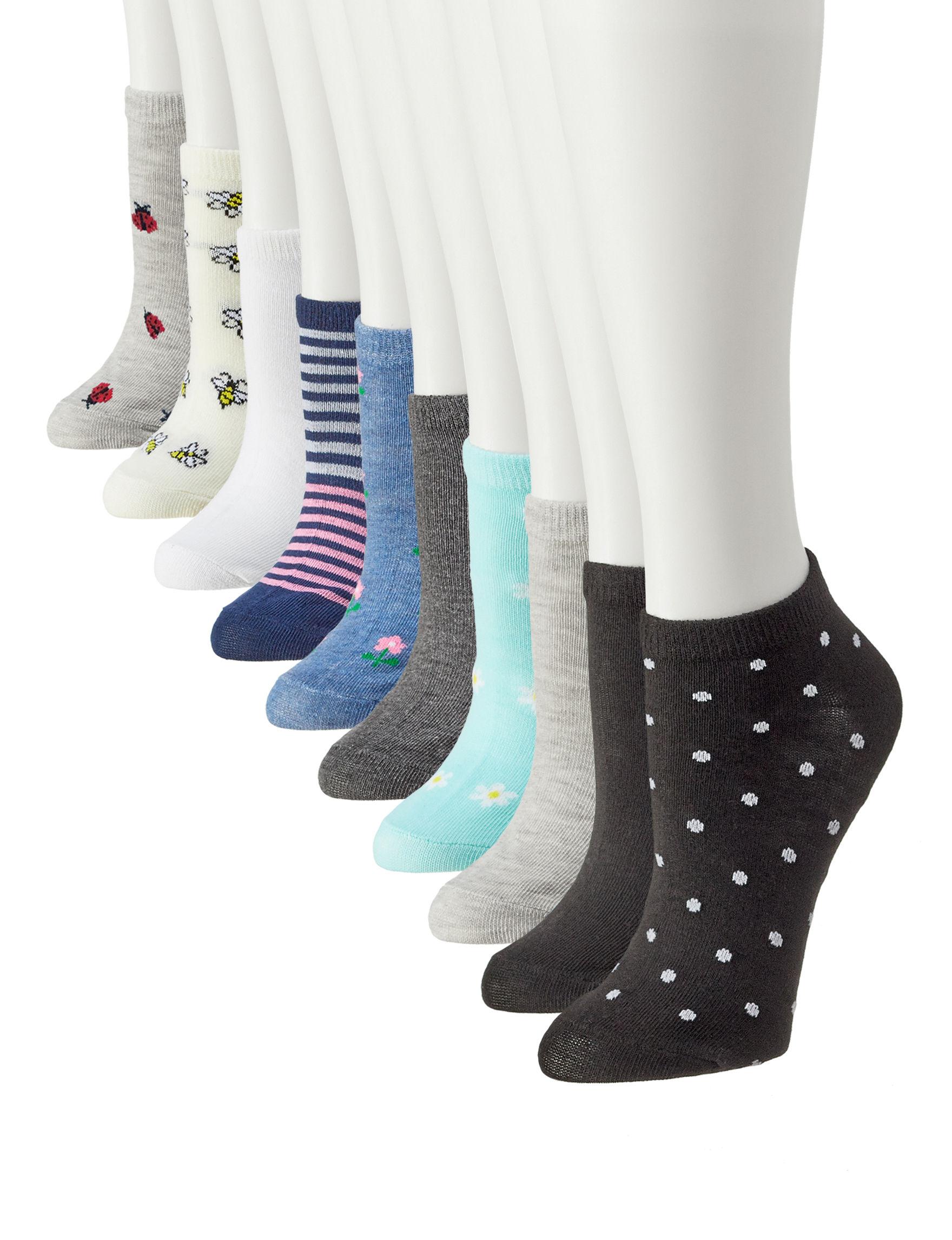 Modern Herritage Beige / Multi Socks