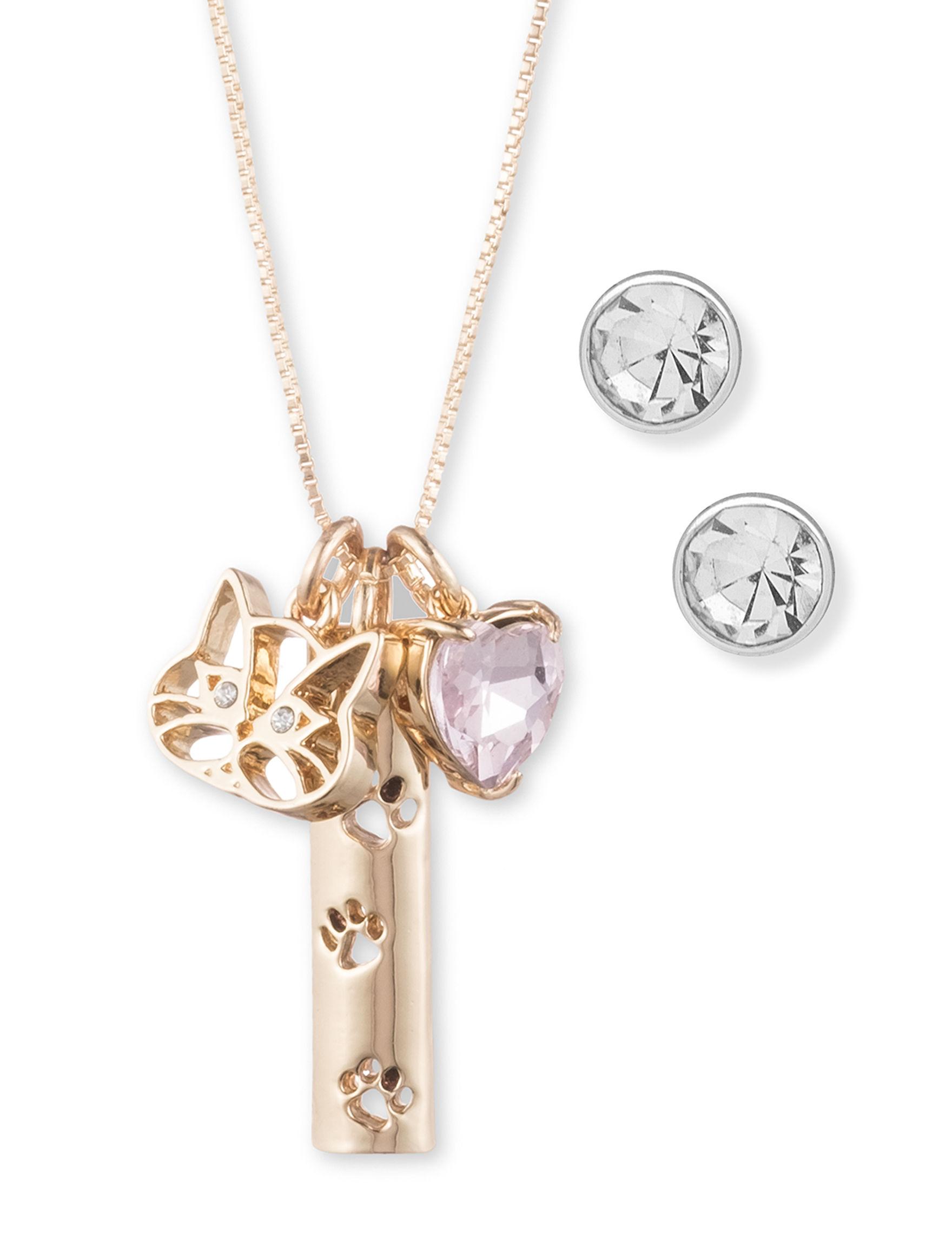 Pet Friends Gold Earrings Necklaces & Pendants Fashion Jewelry