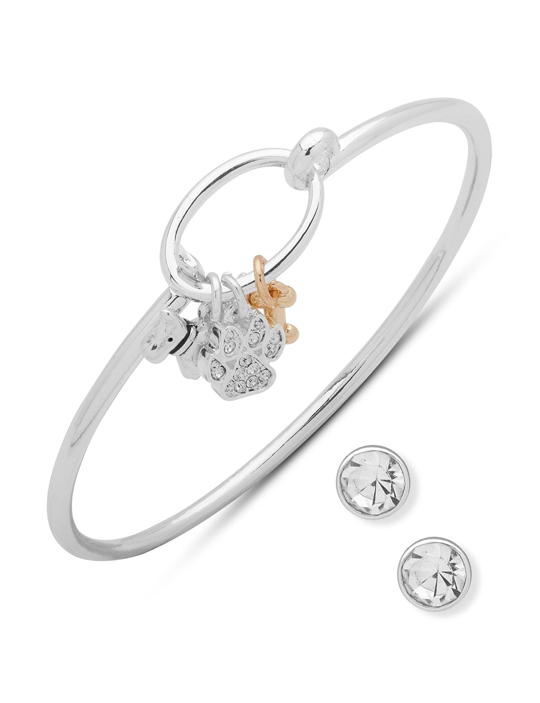 Pet Friends Silver / Crystal Bracelets Earrings Fashion Jewelry