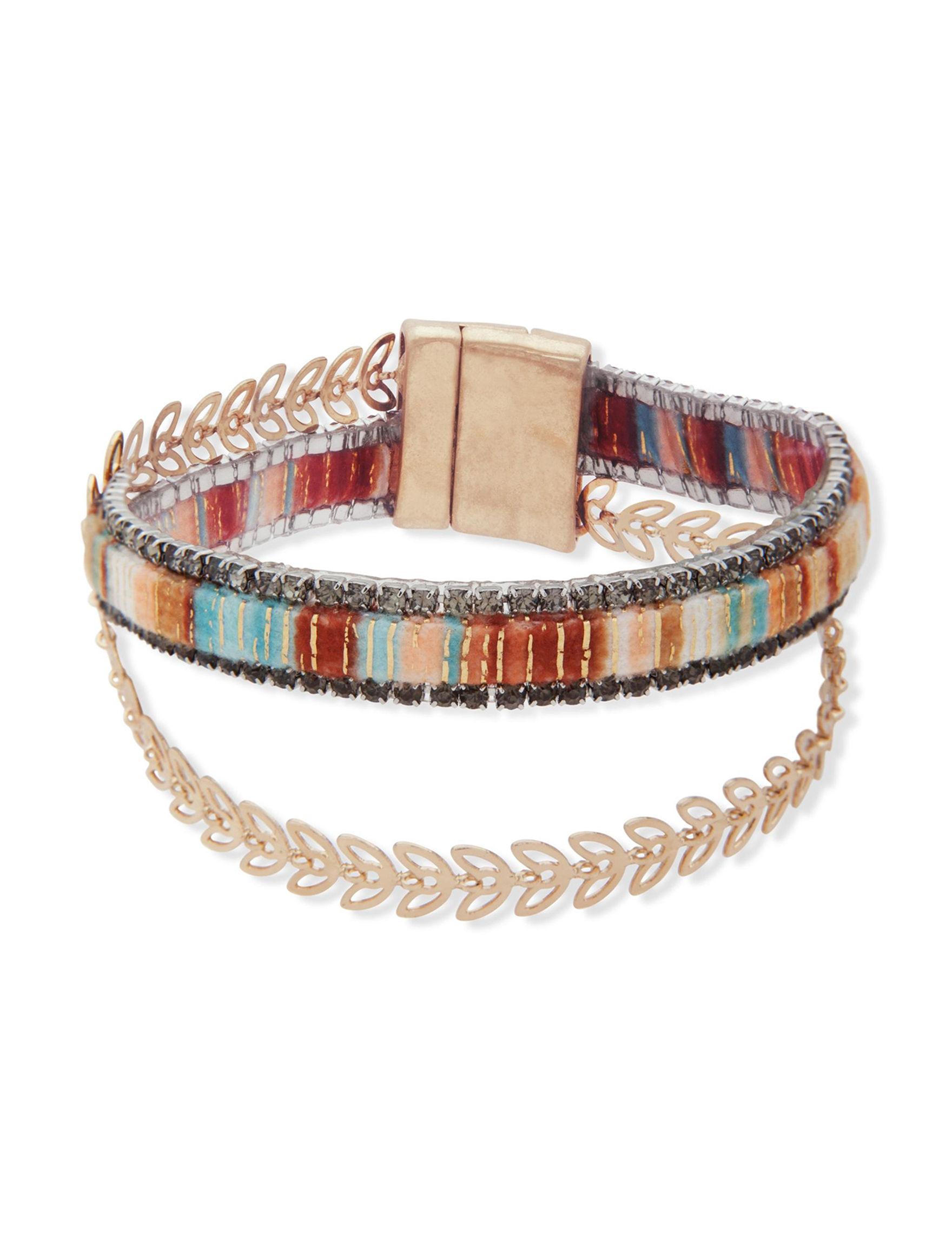 Chaps Gold / Multi Bracelets Fashion Jewelry