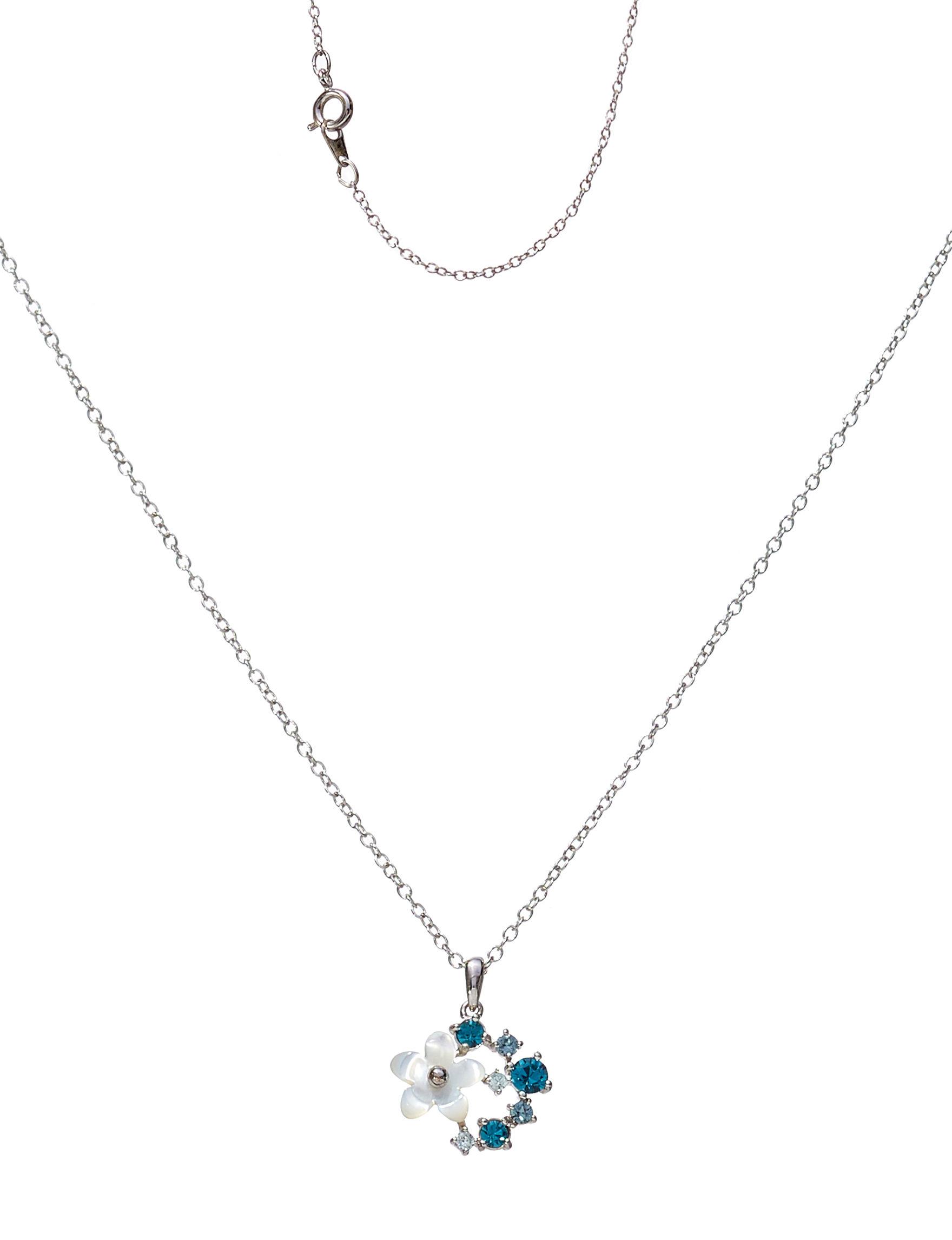 Sunstone Silver / Blue Necklaces & Pendants Fine Jewelry