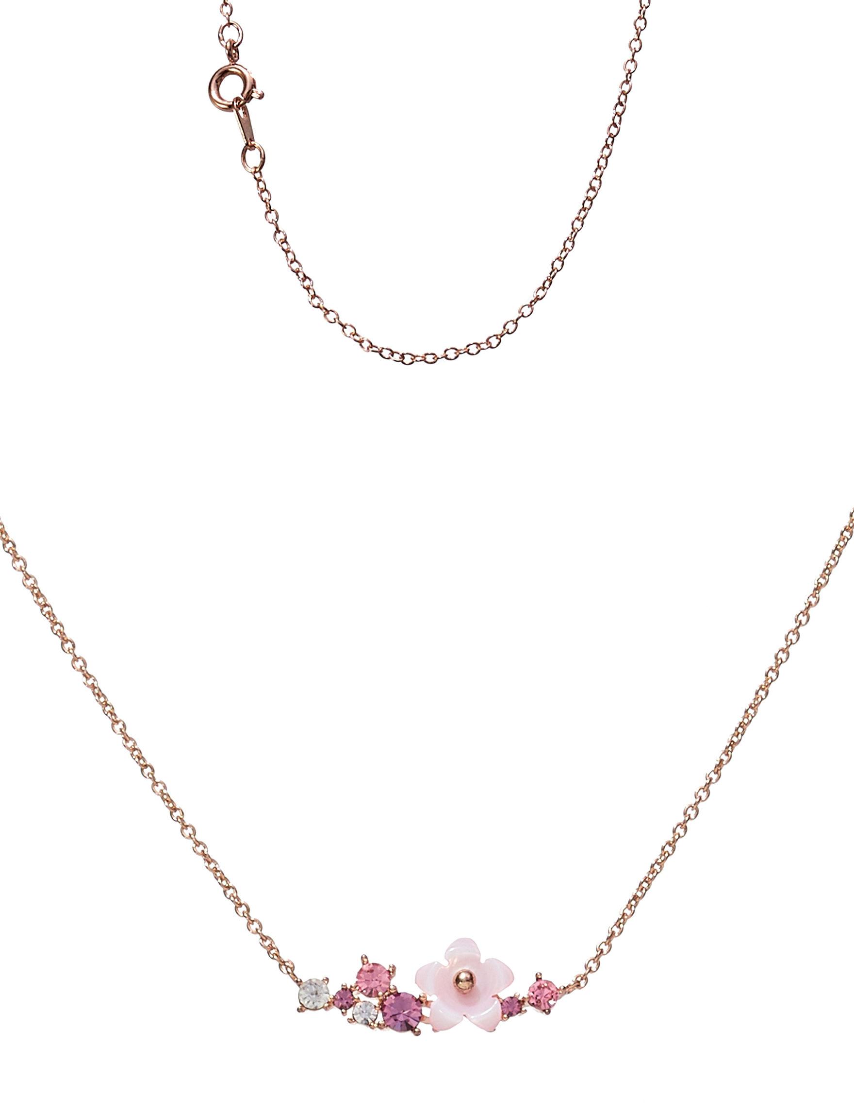 Sunstone Gold / Pink Necklaces & Pendants Fine Jewelry
