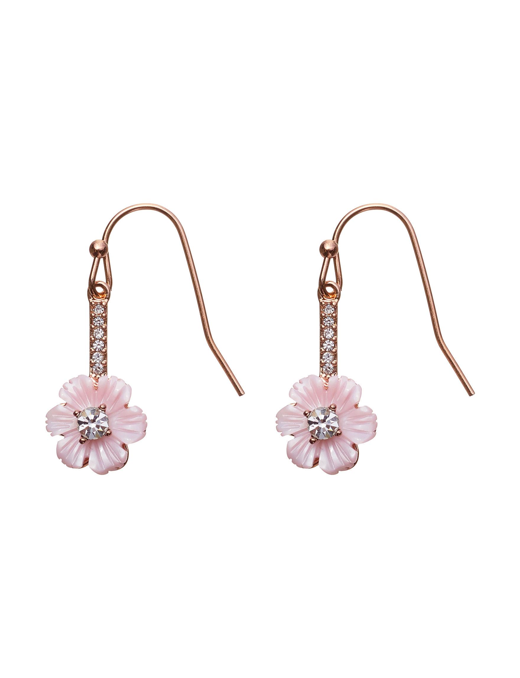 Sunstone Pink Multi Drops Earrings Fine Jewelry