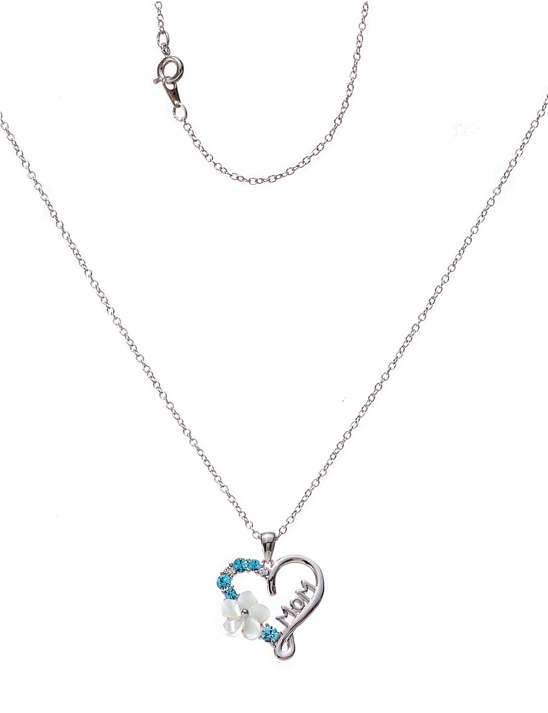 Sunstone Silver / Blue Necklaces & Pendants Fine Jewelry