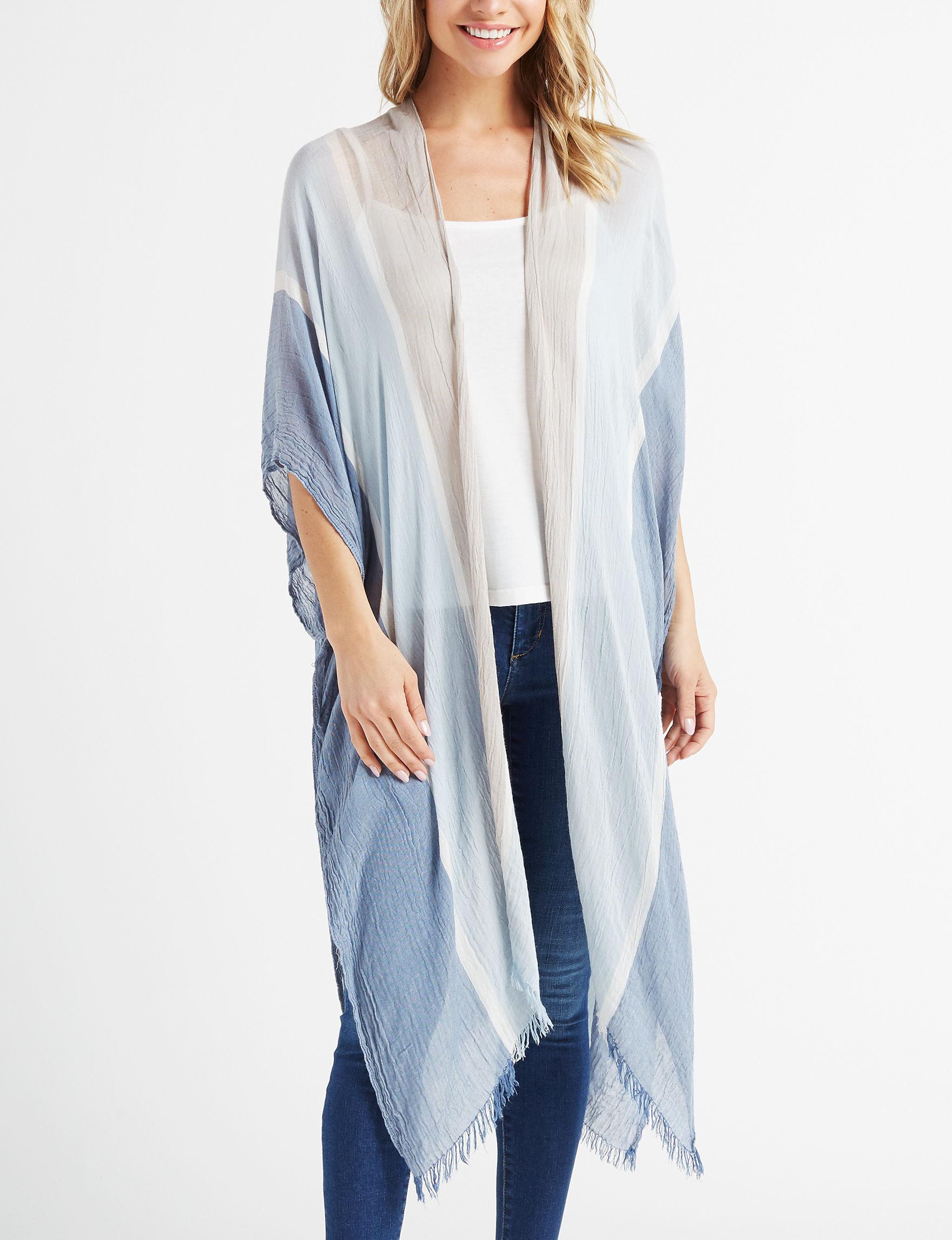David & Young Blue / Multi Kimonos & Toppers