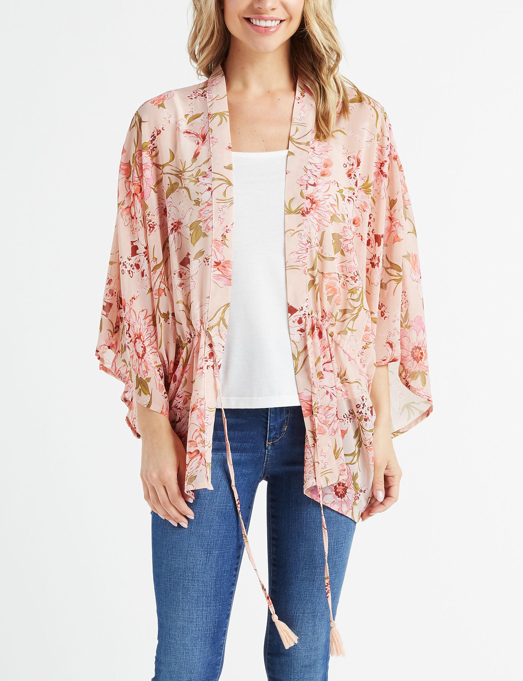 David & Young Pink Multi Kimonos & Toppers