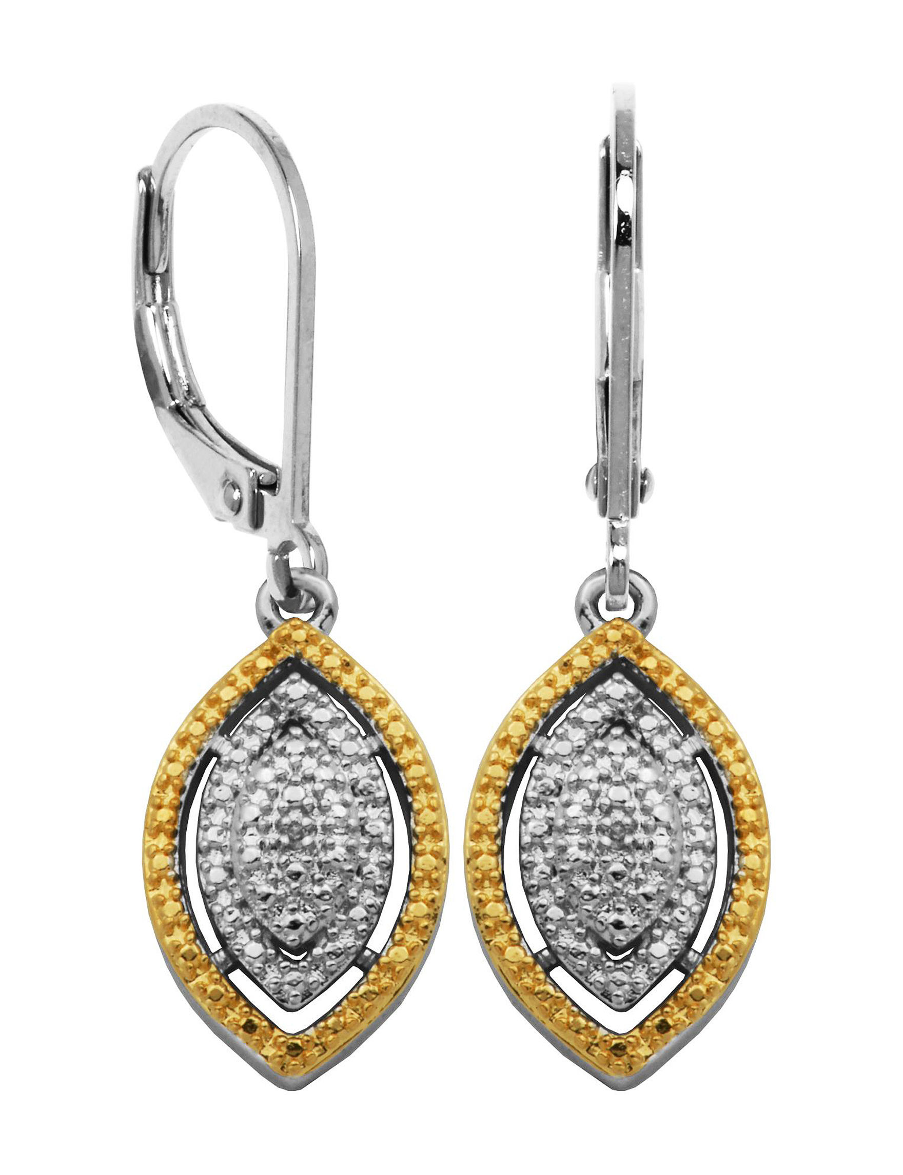 PAJ INC. Silver / Gold Drops Earrings Fine Jewelry