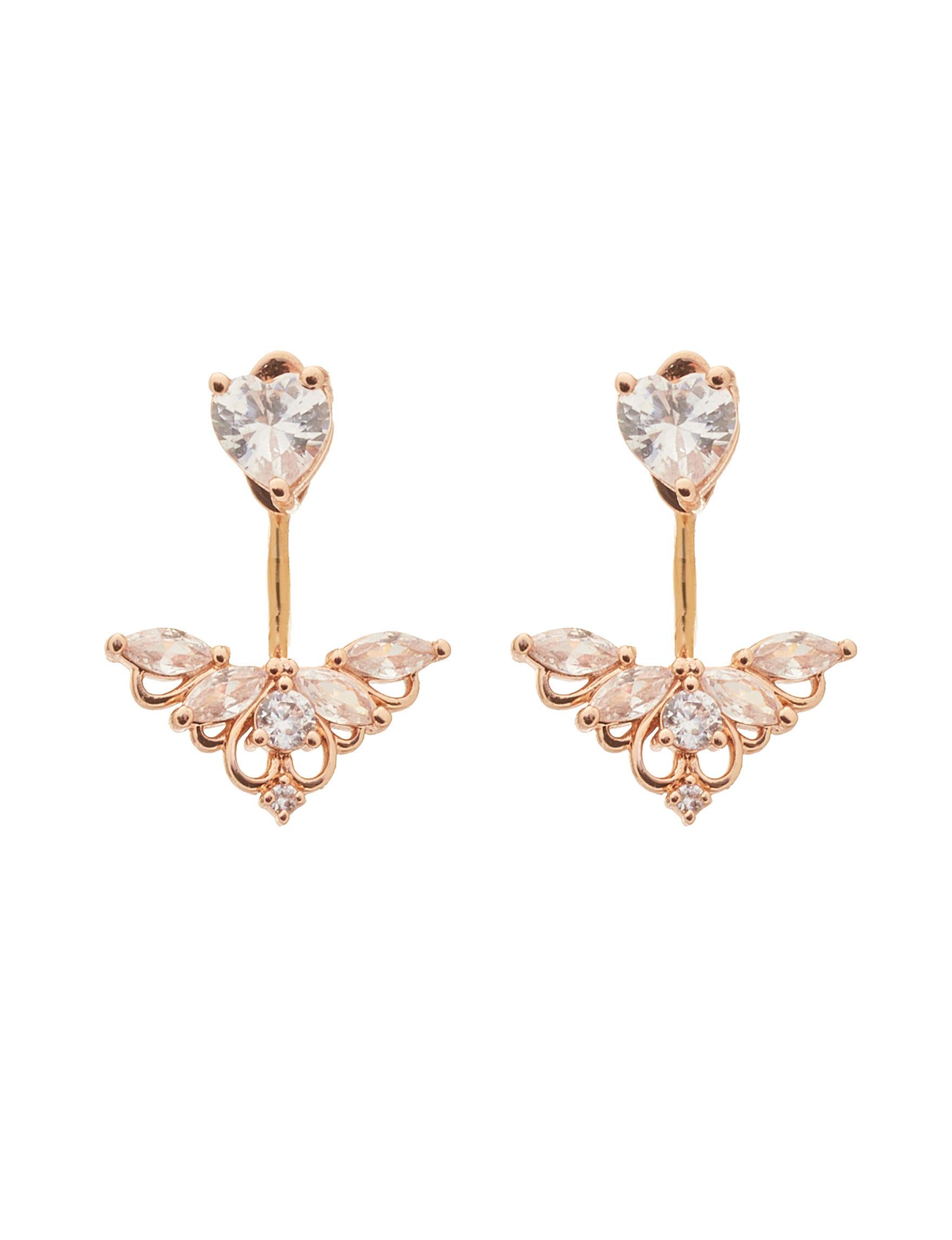 PAJ INC. White Studs Earrings Fine Jewelry