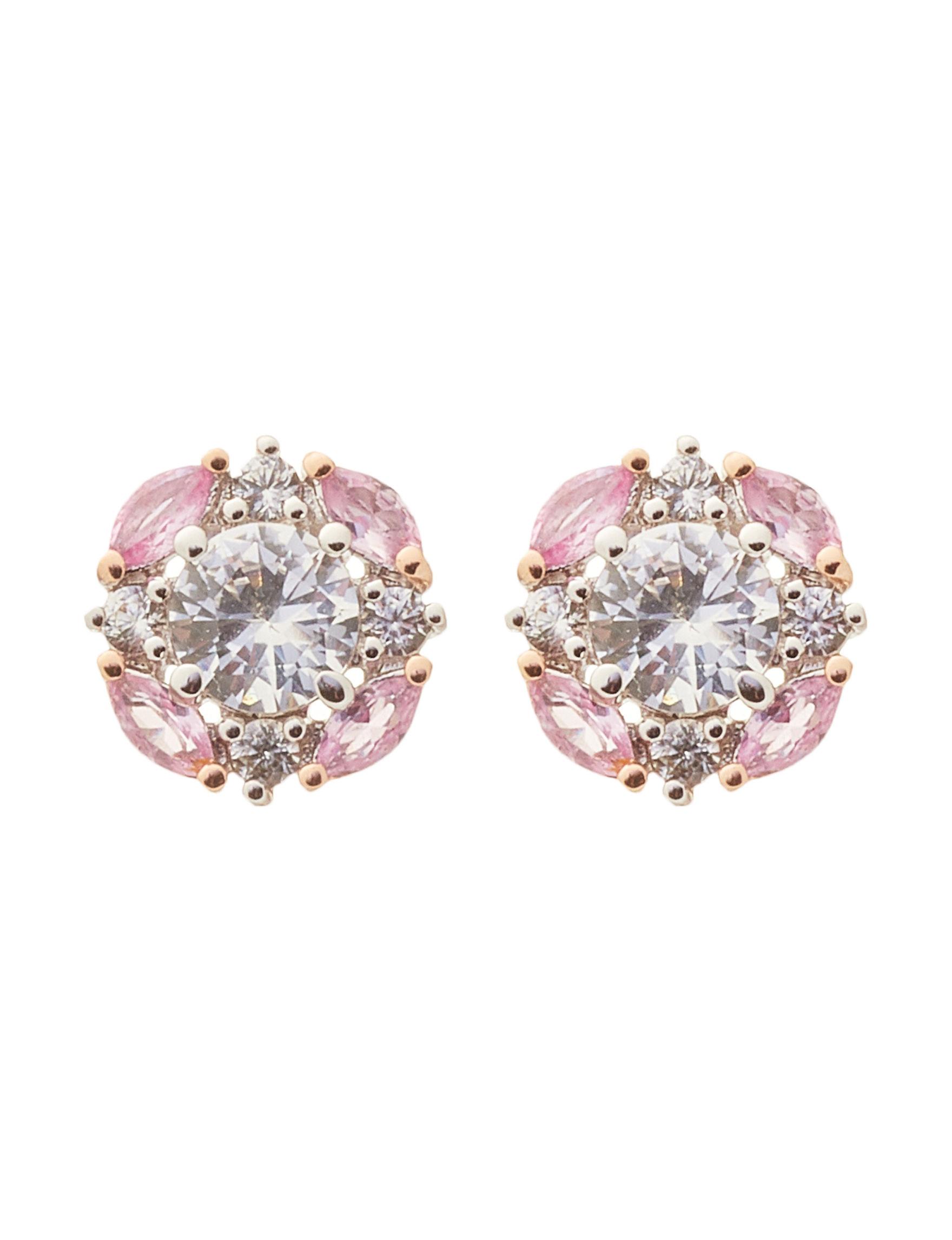PAJ INC. Silver / Purple Stone Studs Earrings Fine Jewelry