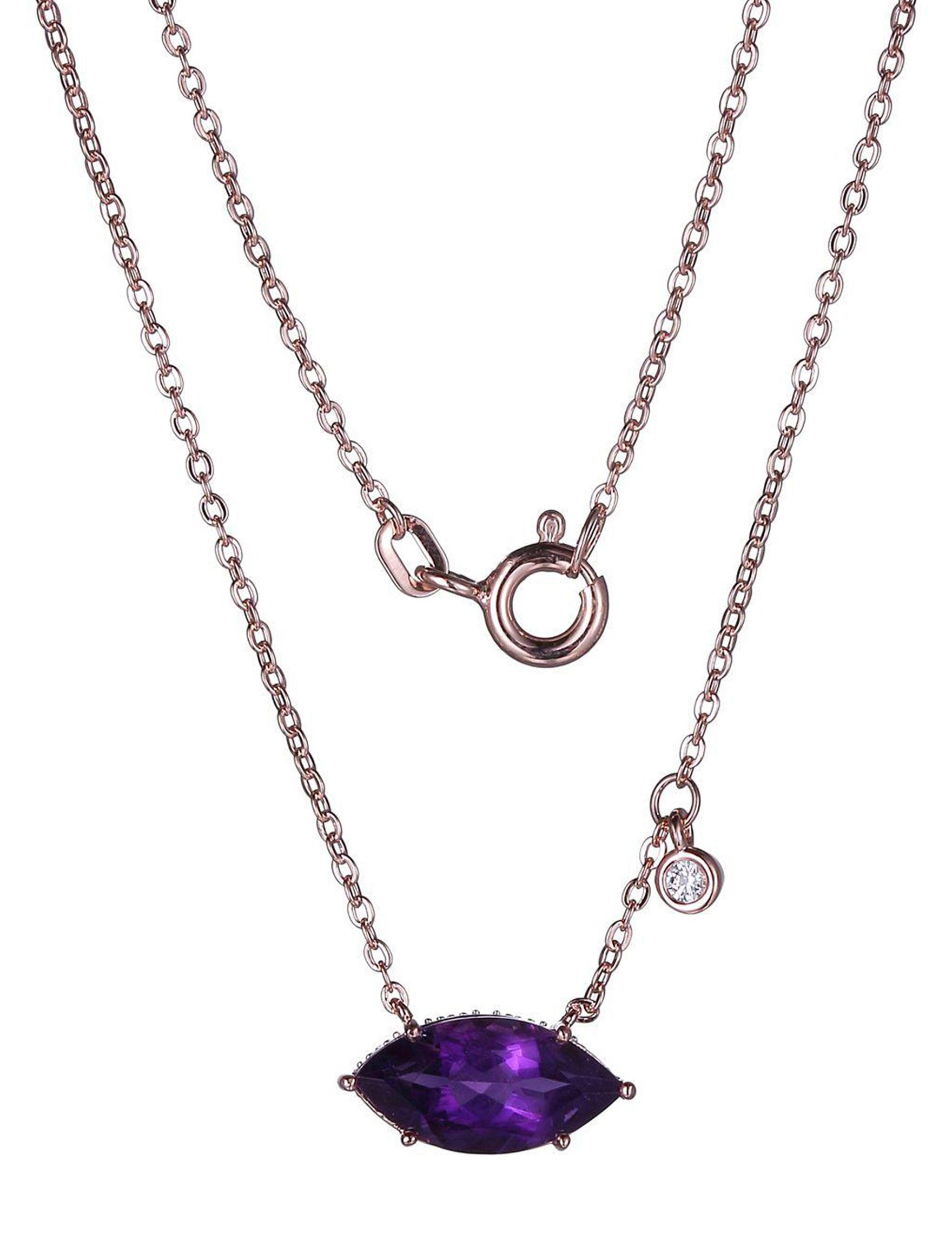 PAJ INC. Amethyst Necklaces & Pendants Fine Jewelry