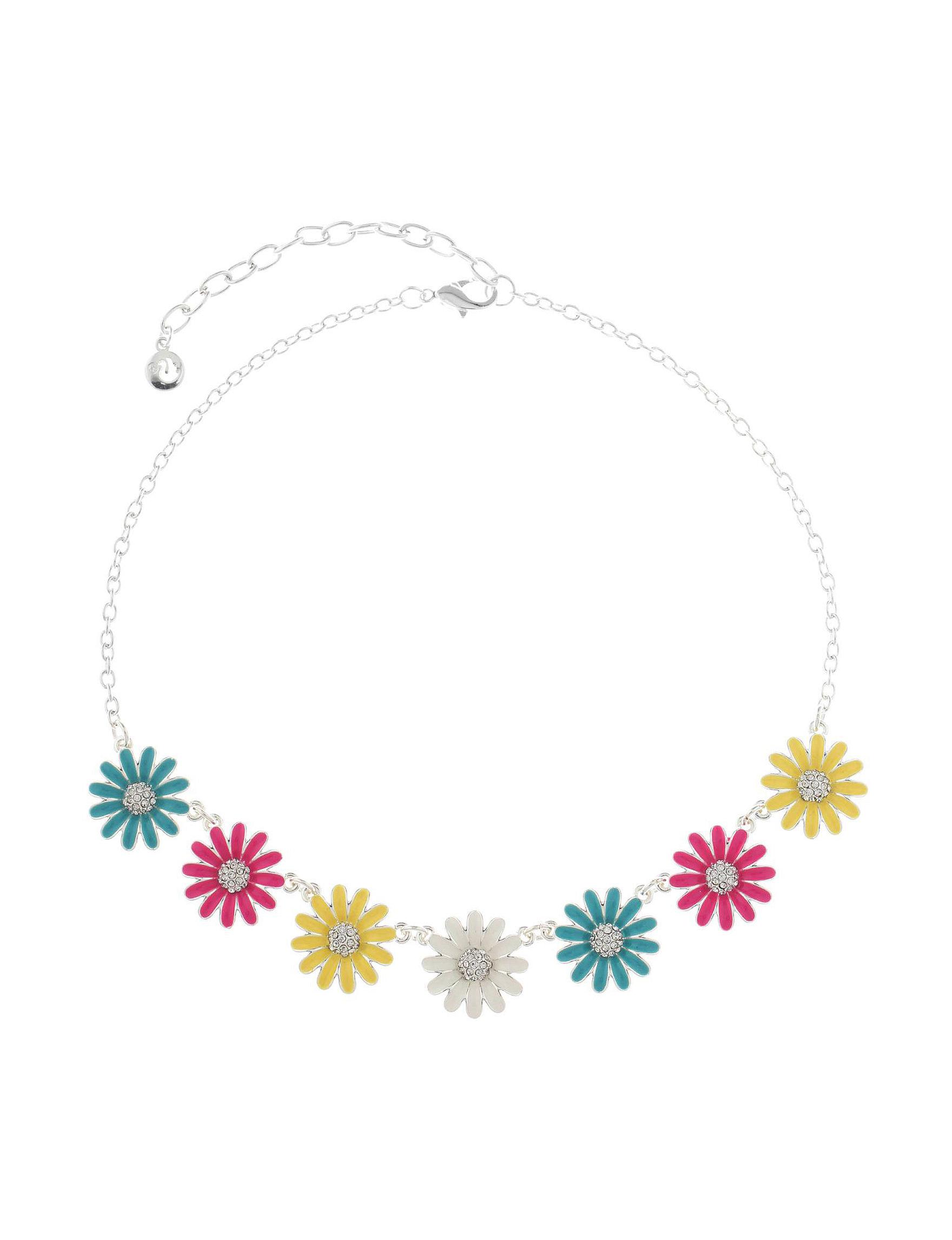 Gloria Vanderbilt Silver / Multi Necklaces & Pendants Fashion Jewelry
