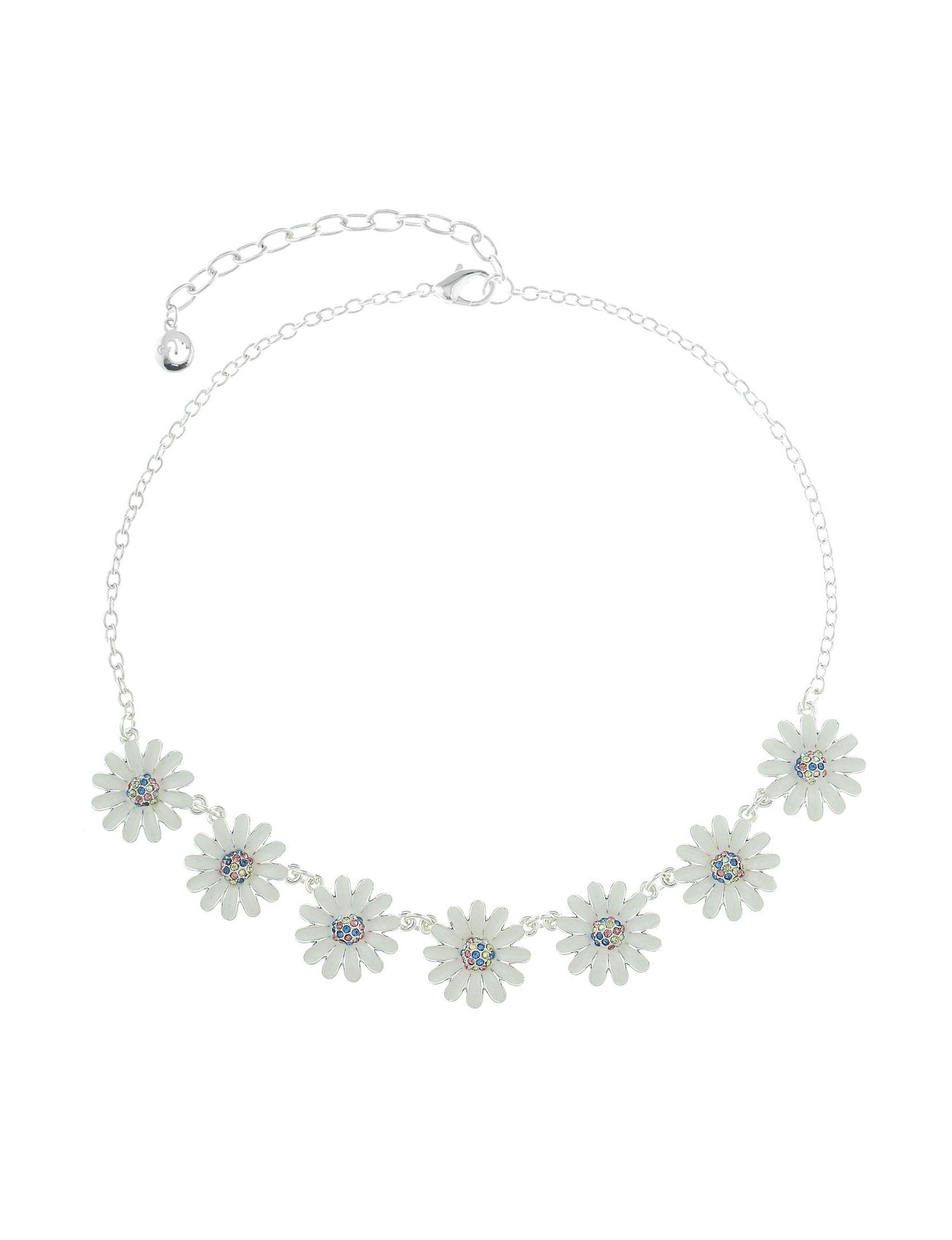 Gloria Vanderbilt White / Multi Necklaces & Pendants Fashion Jewelry