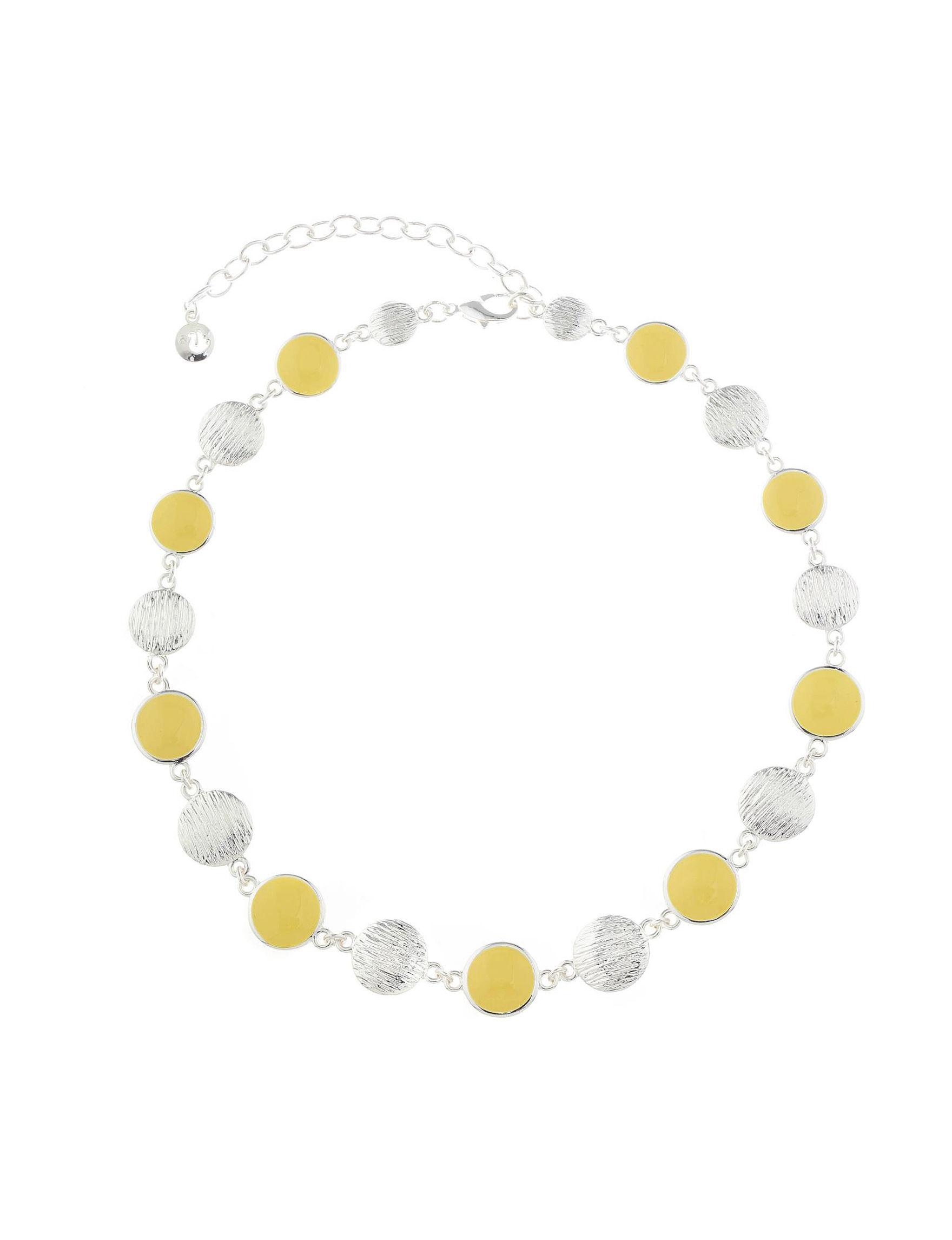 Gloria Vanderbilt Yellow / Silver Necklaces & Pendants Fashion Jewelry