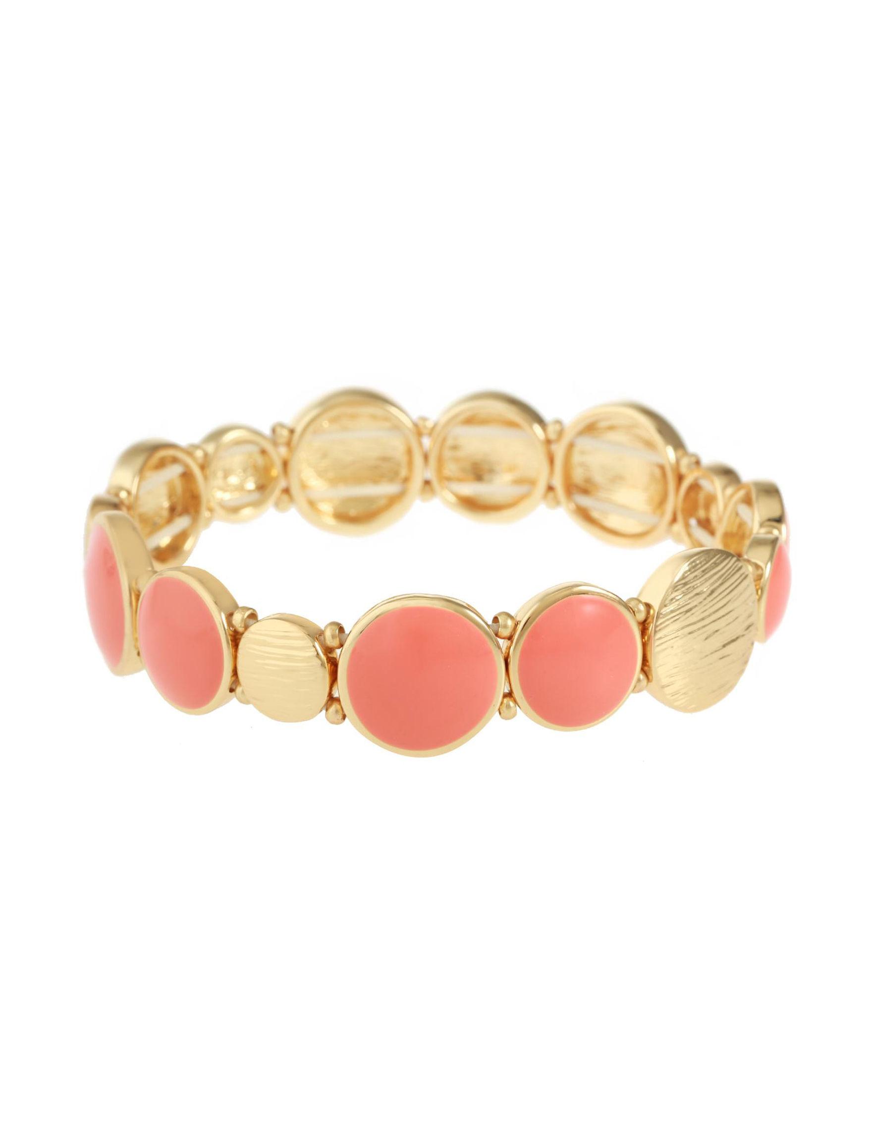 Gloria Vanderbilt Orange Bracelets Fashion Jewelry