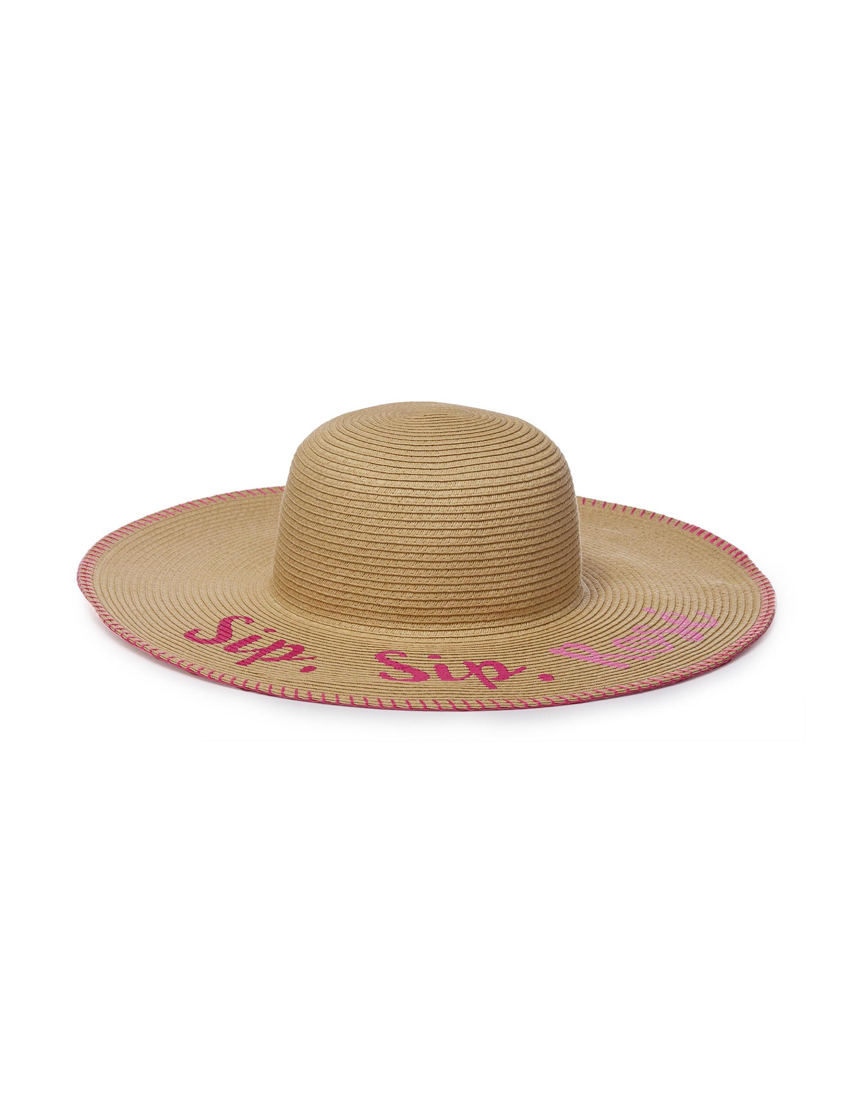 David & Young Beige / Multi Hats & Headwear Floppy Hats