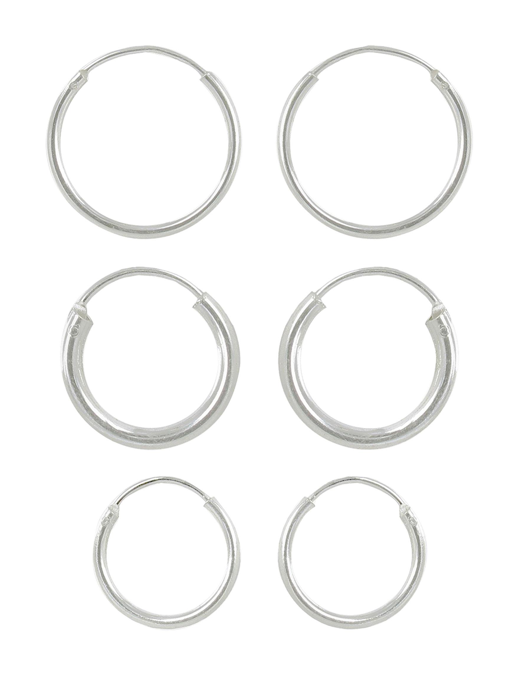 Sunstone Sterling Silver Hoops Fine Jewelry