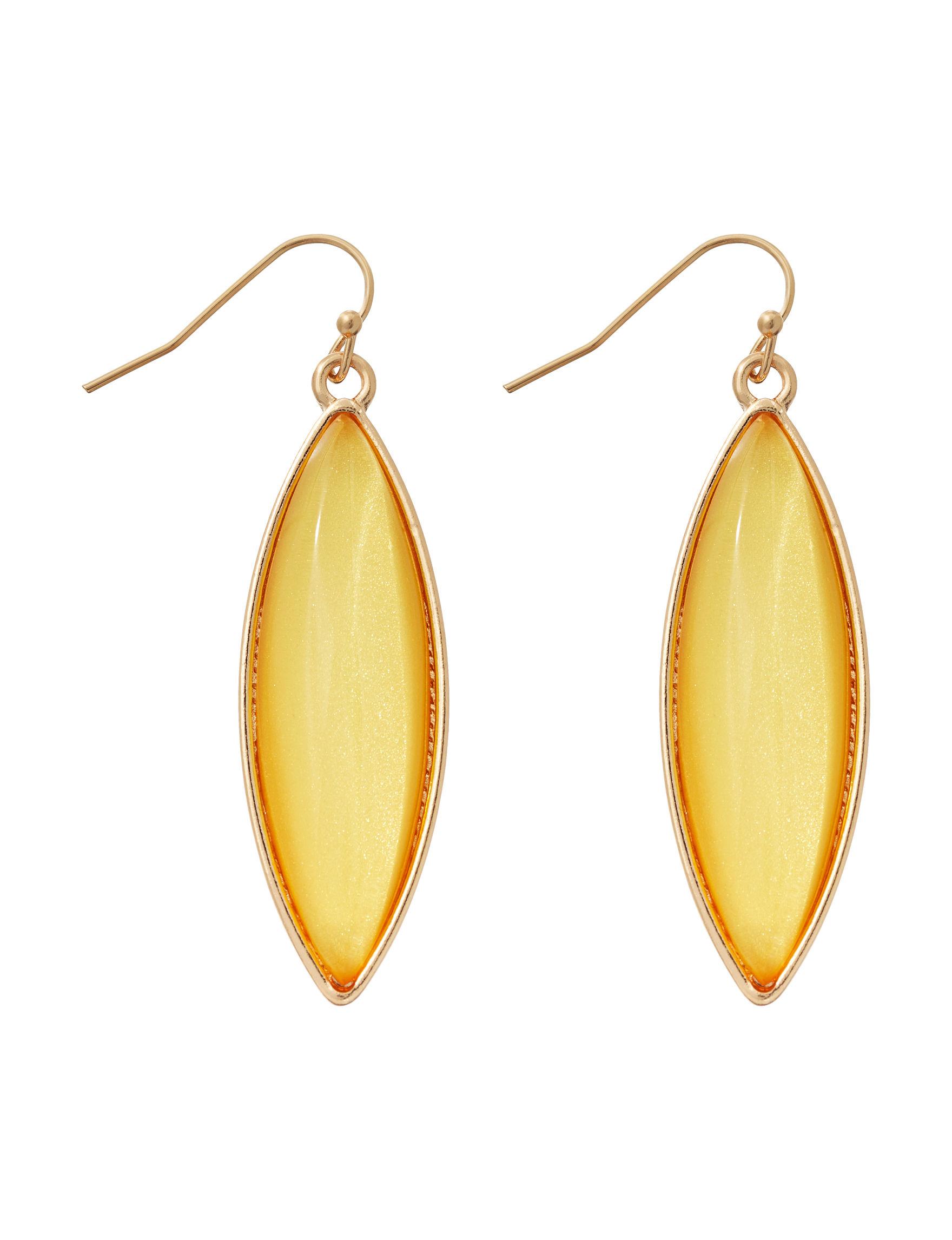 Hannah Yellow Drops Earrings Fashion Jewelry