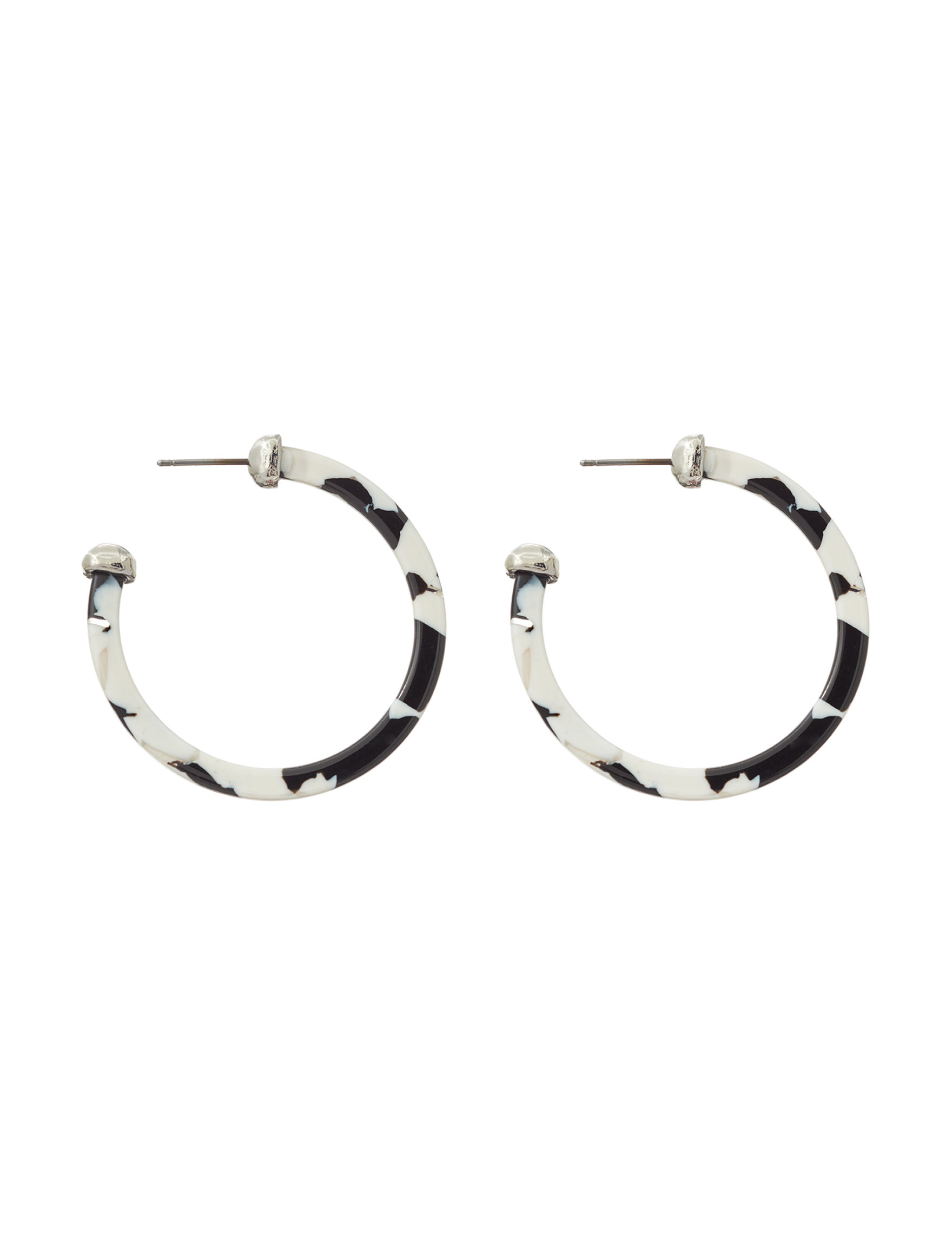 Hannah White / Multi Hoops Earrings Fashion Jewelry