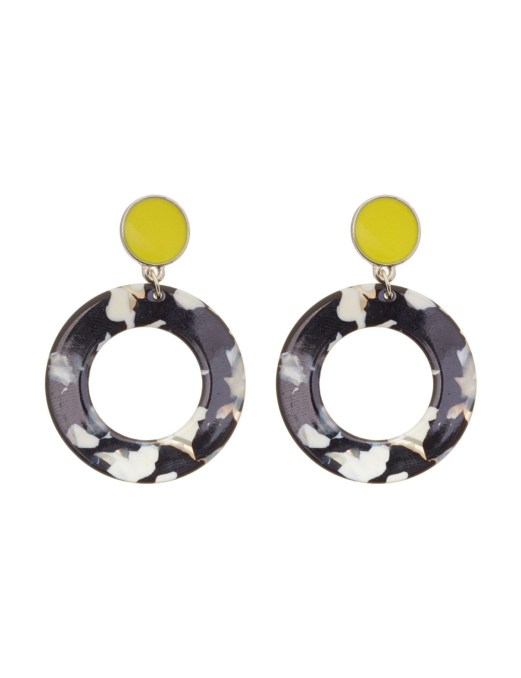 Hannah Black Multi Drops Earrings Fashion Jewelry