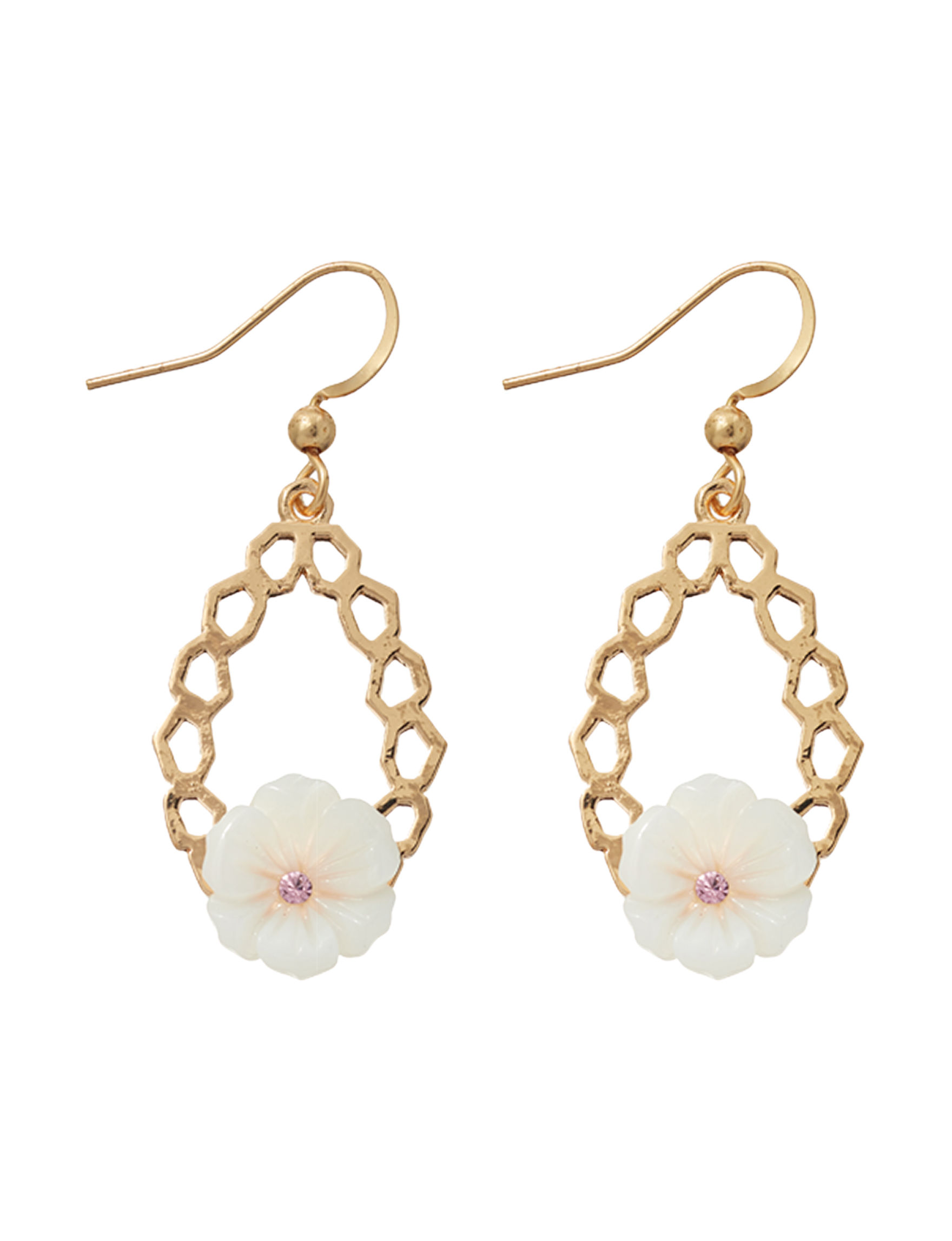 Hannah White / Gold Drops Earrings Fashion Jewelry