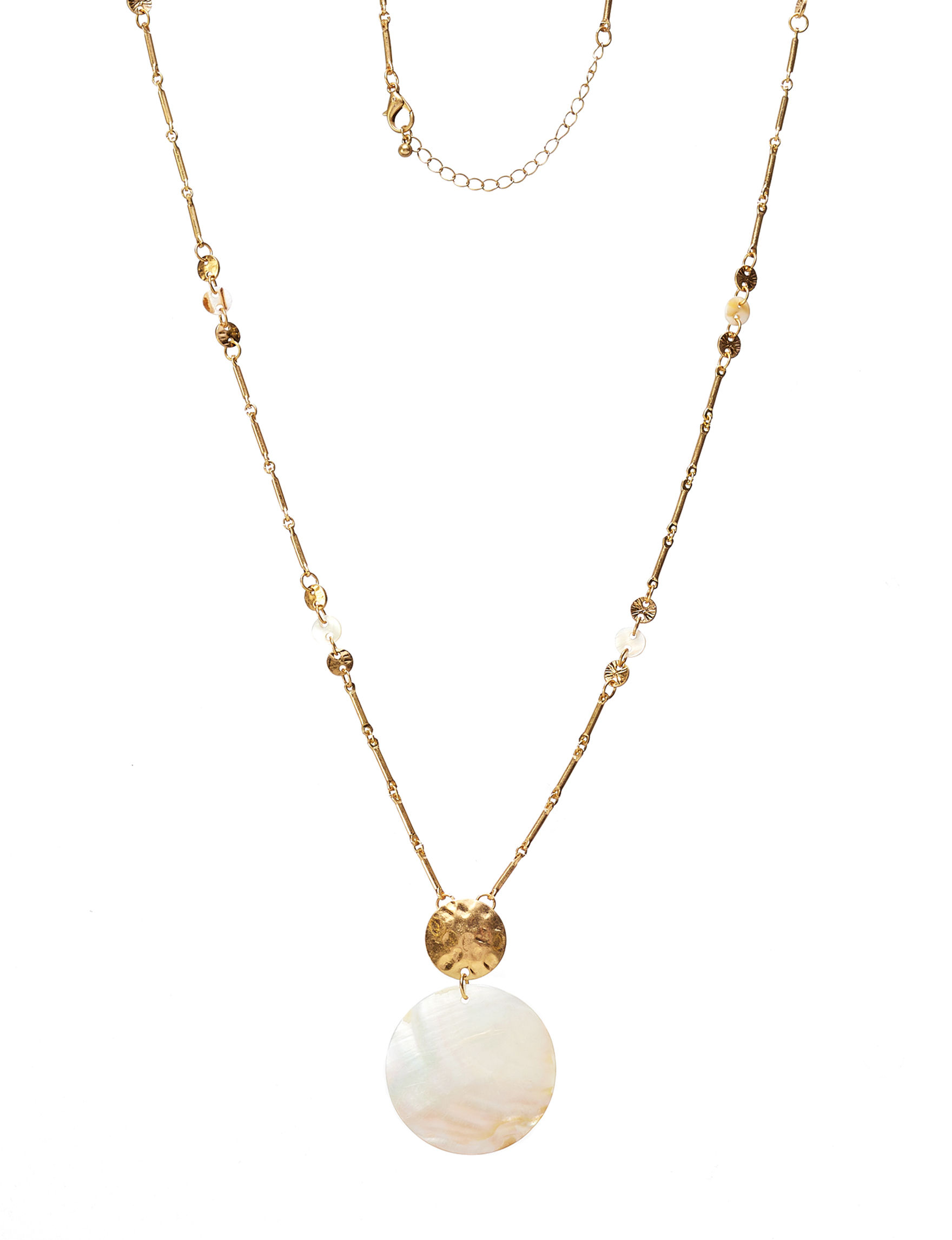 Hannah Ivory / Gold Necklaces & Pendants Fashion Jewelry