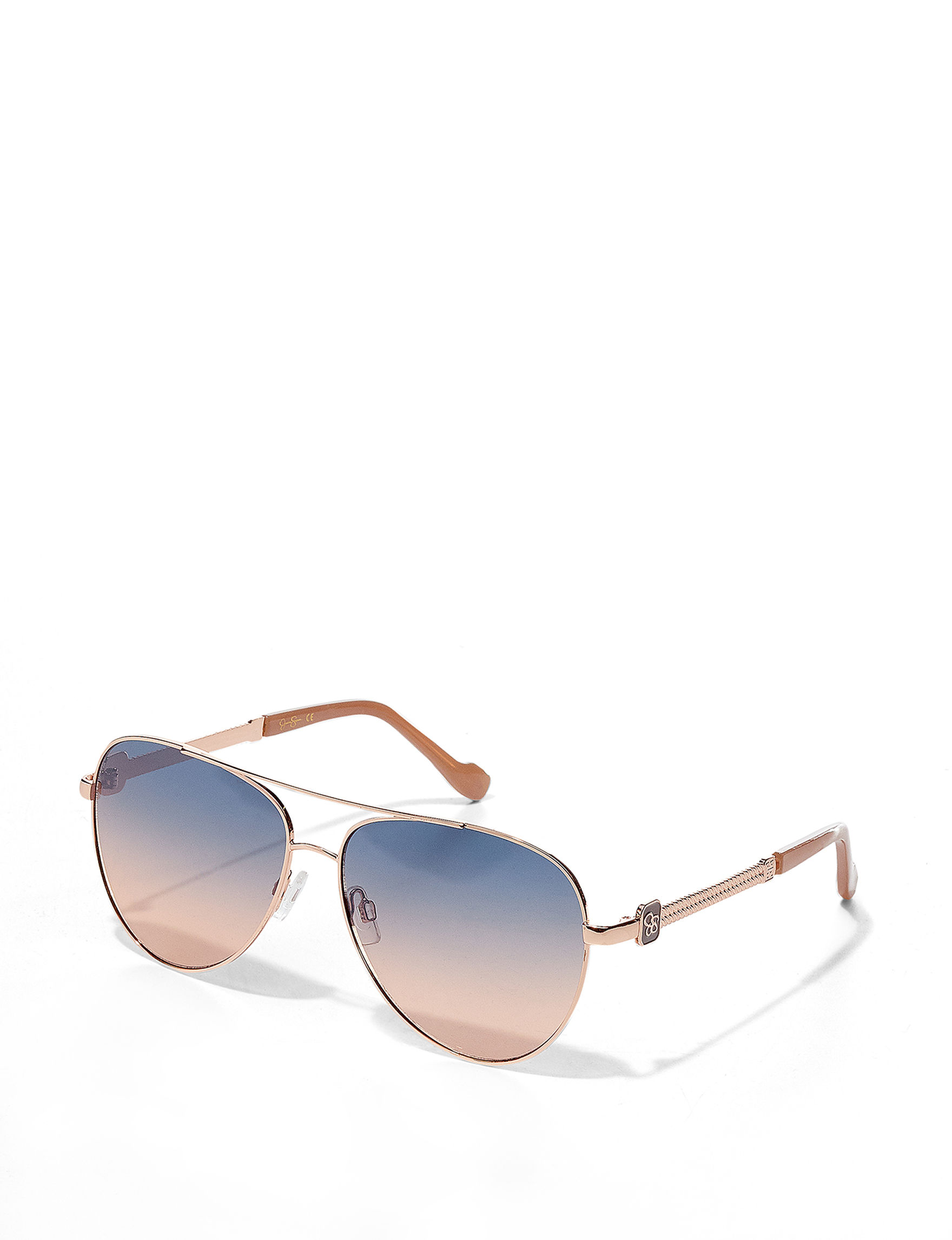 Jessica Simpson Rose Gold / Grey Aviator