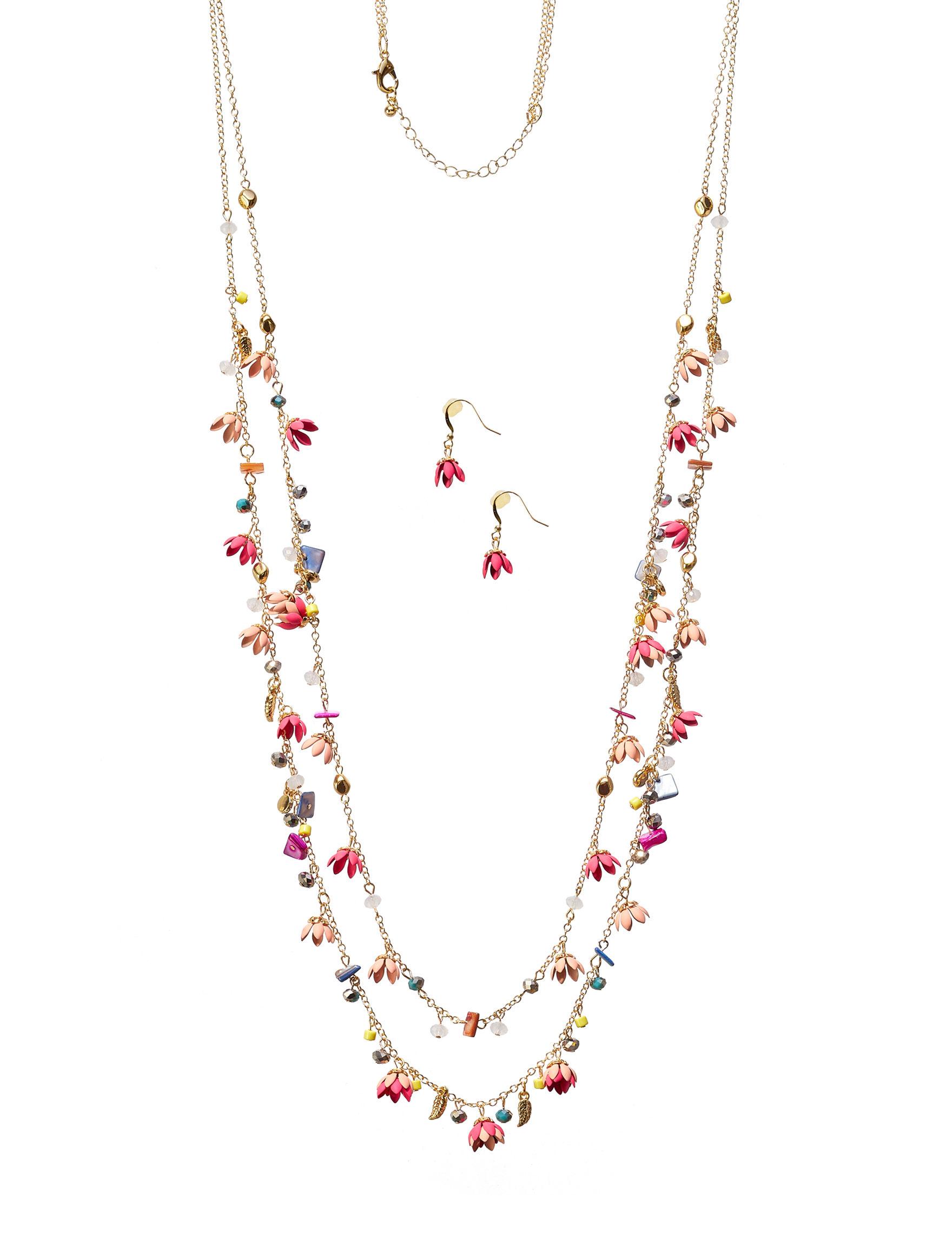 Hannah Gold / Multi Drops Earrings Necklaces & Pendants Fashion Jewelry