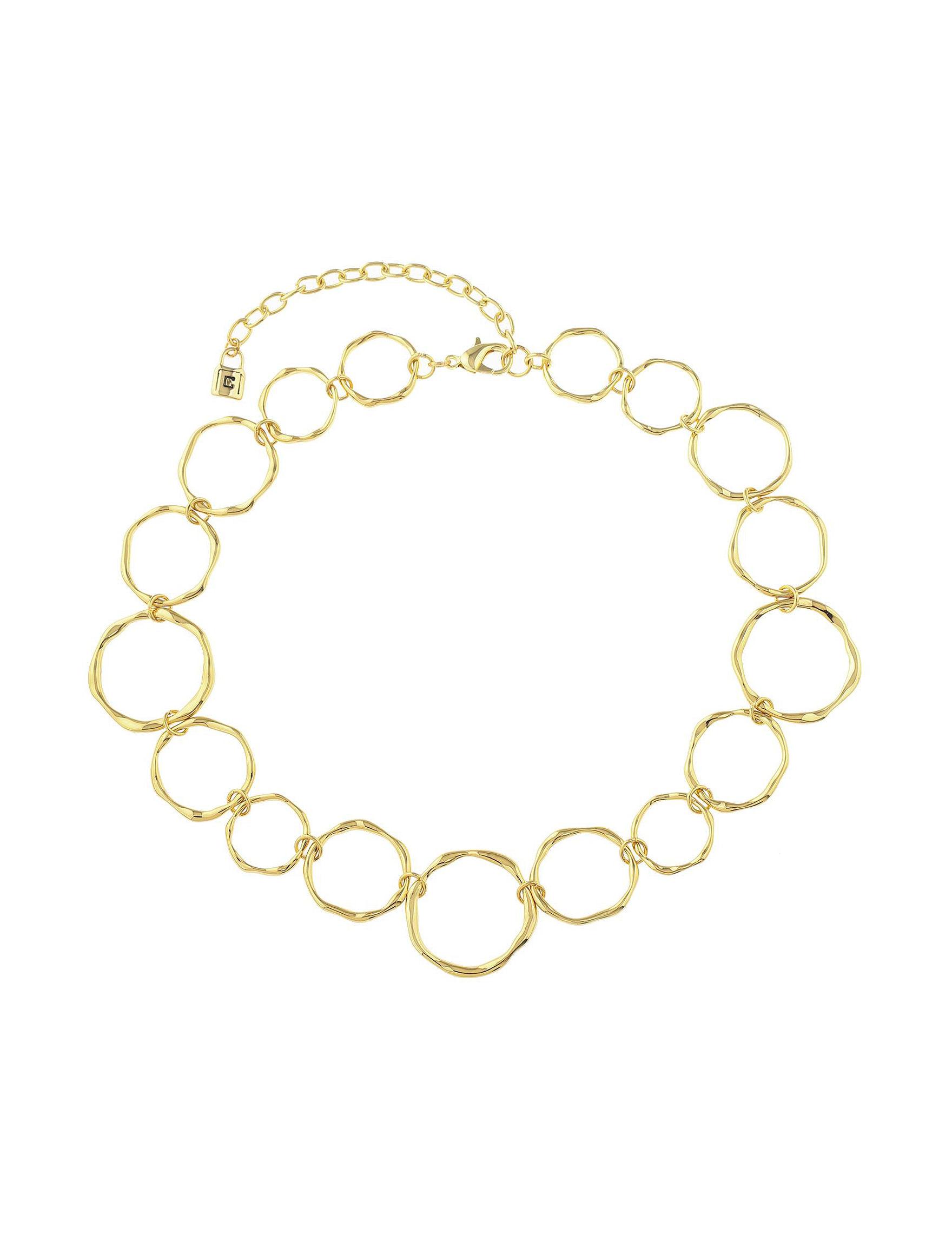 Chaps Gold Necklaces & Pendants Fashion Jewelry