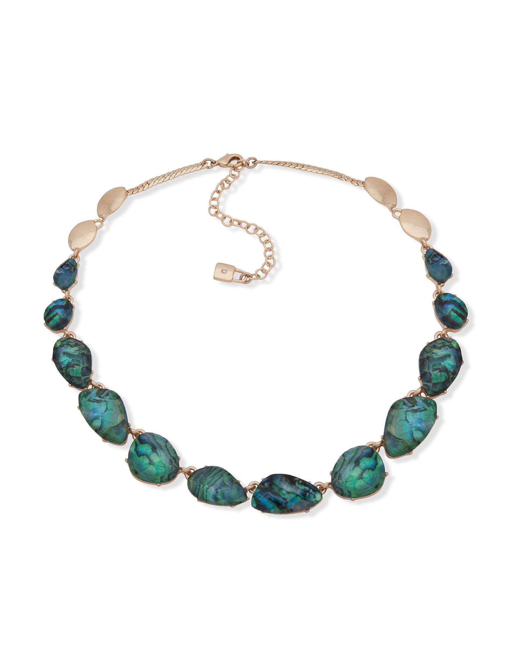 Chaps Gold / Abalone Necklaces & Pendants Fashion Jewelry