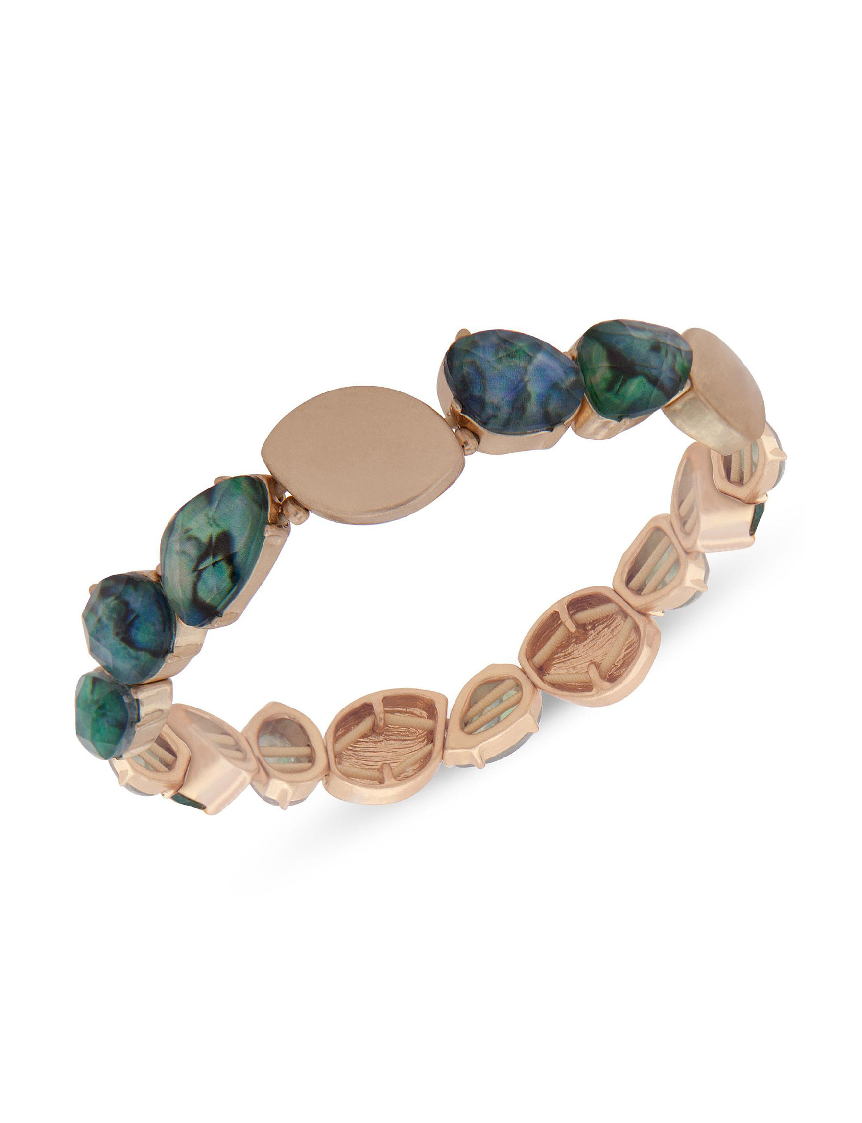 Chaps Gold / Abalone Bracelets Fashion Jewelry