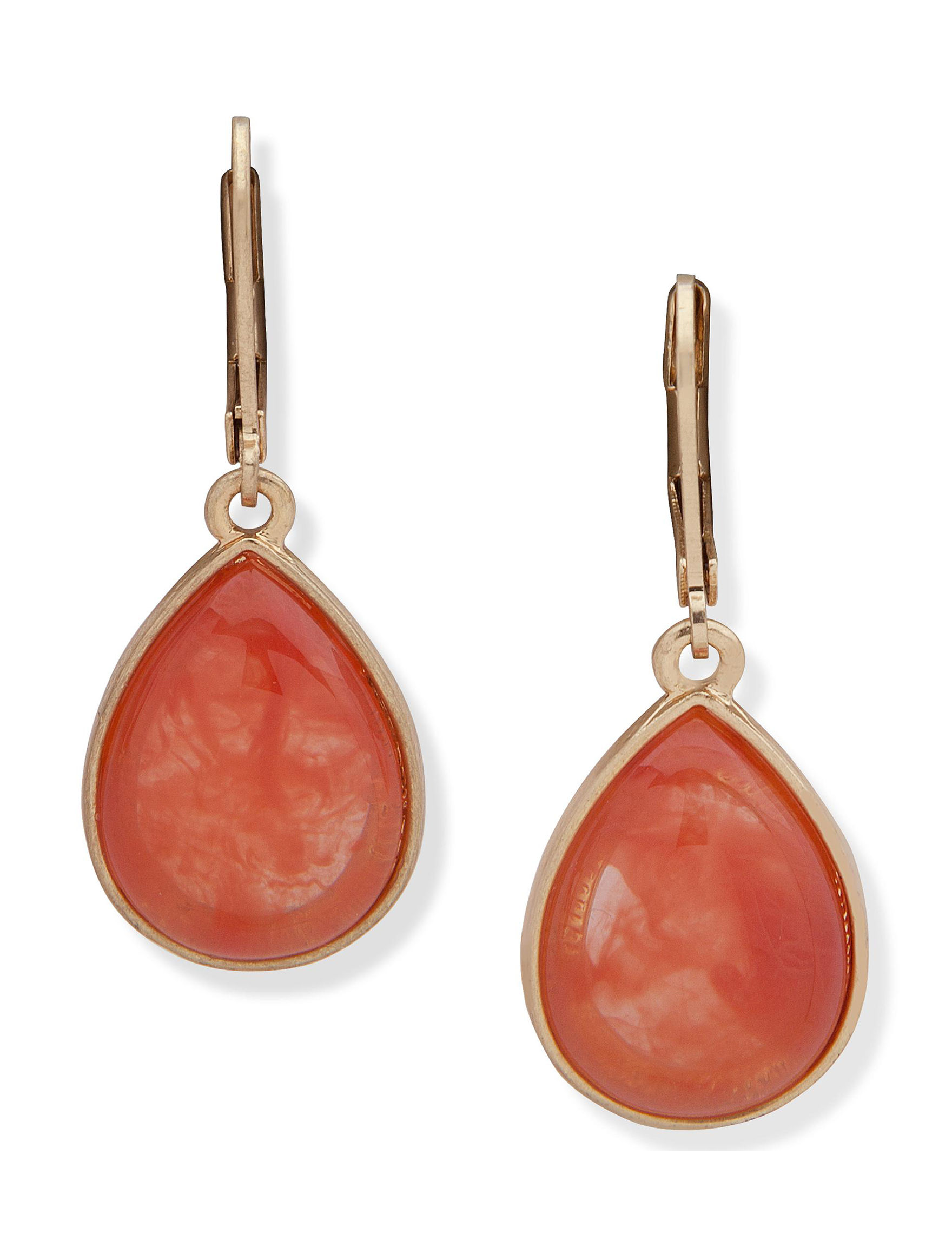 Chaps Coral Drops Earrings Fashion Jewelry
