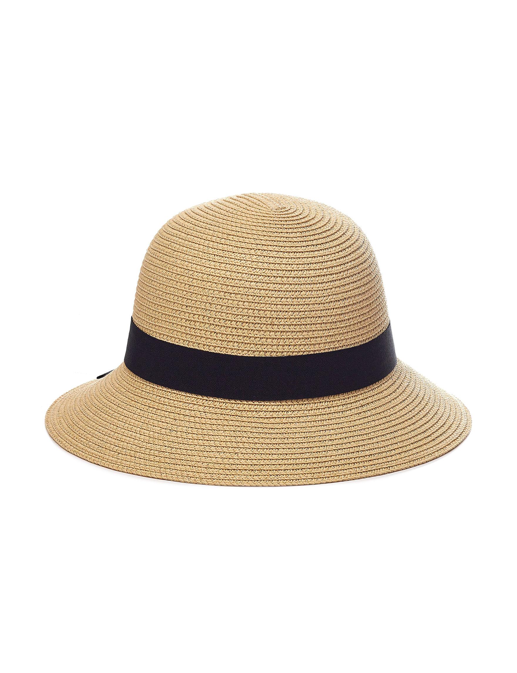 David & Young Beige / Black Hats & Headwear
