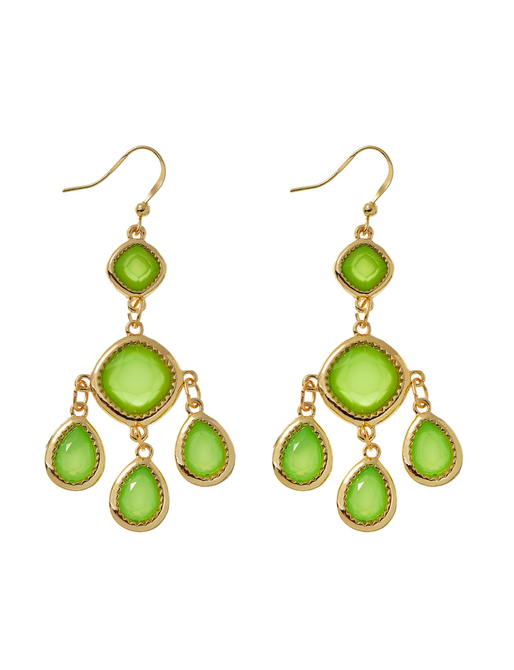 Hannah Lime Drops Earrings Fashion Jewelry